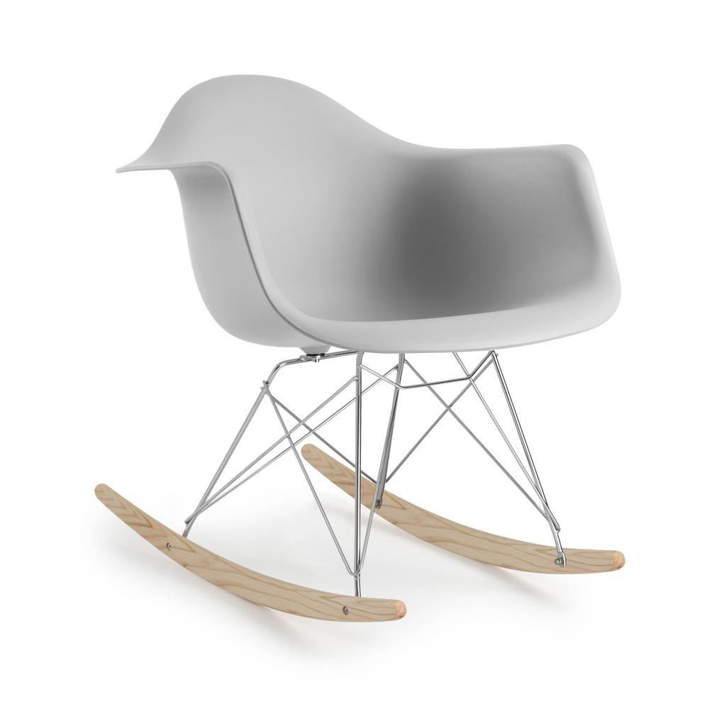 Poly And Bark Rocker Harbor Grey Lounge Chair Hd 121 Hrgy Regarding Rocking Chairs & Lounge Chairs In Grey (View 14 of 20)