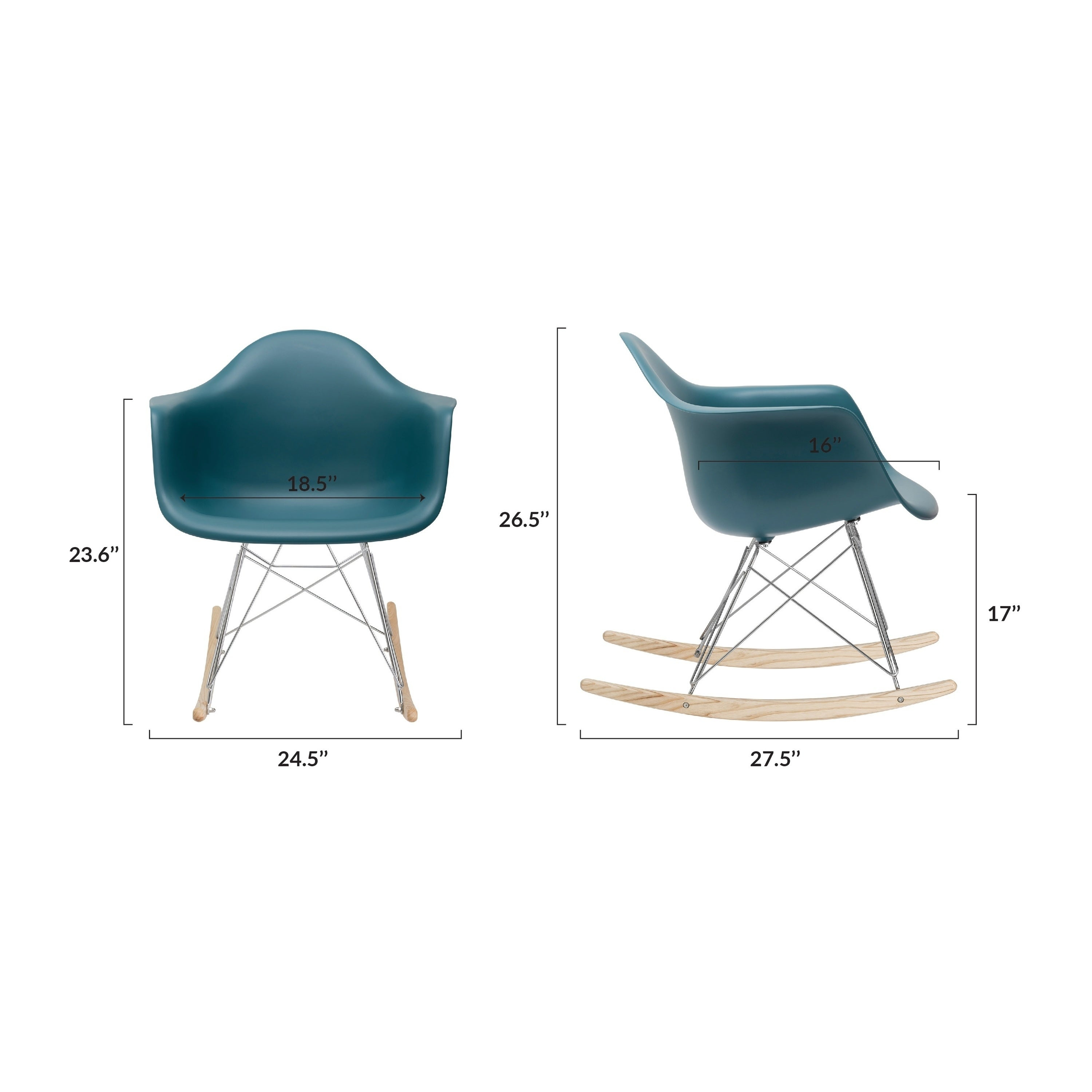 Inspiration about Poly And Bark Teal Rocker Lounge Chair With Regard To Poly And Bark Teal Rocking Chairs Lounge Chairs (#1 of 20)