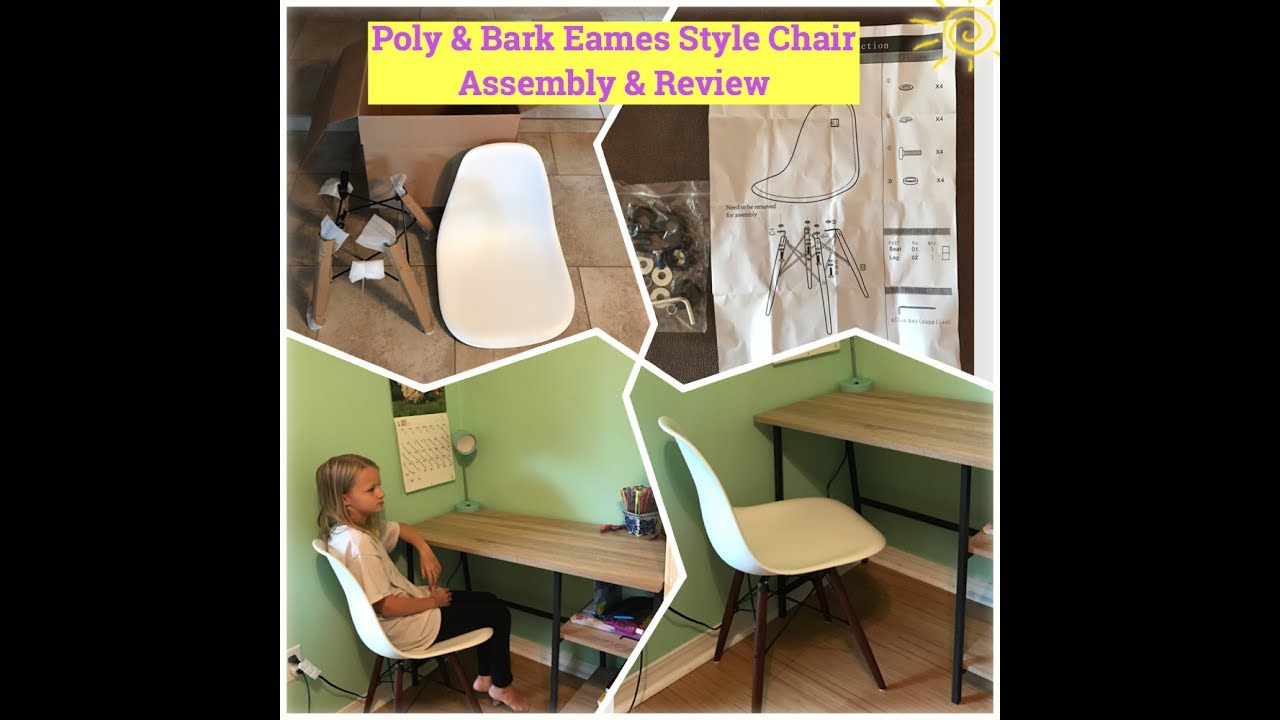 Inspiration about Poly & Bark Eames Style Vortex Dining Chair: Assembly & Review With Regard To Poly And Bark Rocking Chairs Lounge Chairs In Black (#10 of 20)