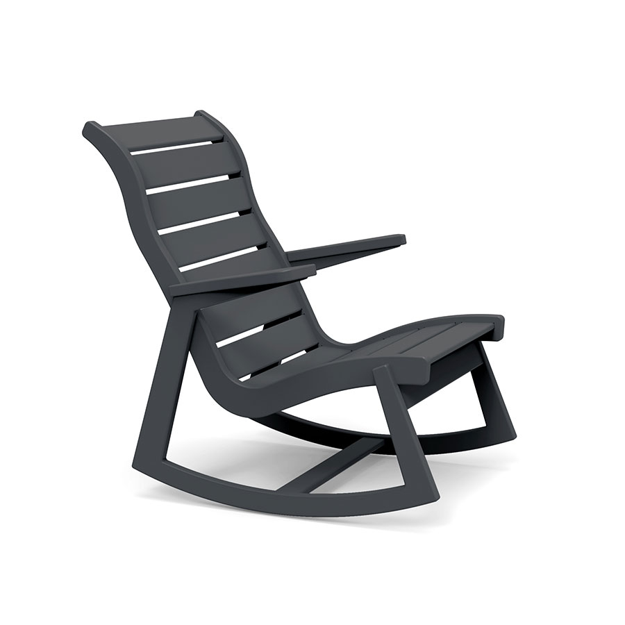 Rapson Rocking Chair In Black Plastic Rocking Chairs (#13 of 20)