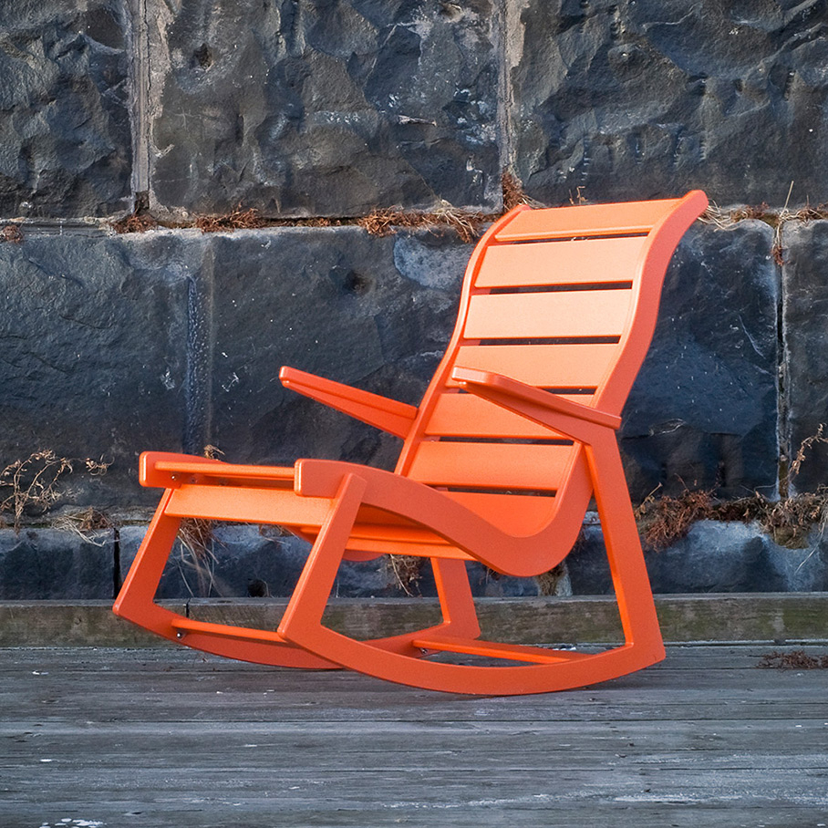 Inspiration about Rapson Rocking Chair Intended For Orange Rocking Chairs Lounge Chairs (#8 of 20)
