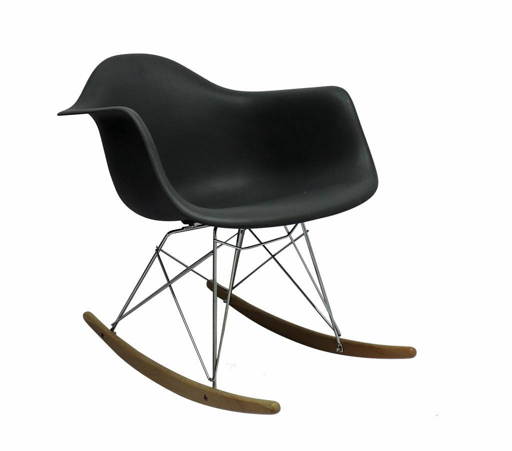 Inspiration about Rar Eames Design Rocking Chair Black With Regard To Black Plastic Rocking Chairs (#19 of 20)