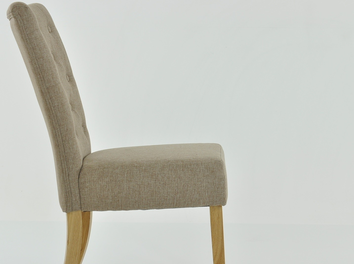 Inspiration about Regent Oatmeal Cream Linen Fabric Buttoned Back Dining Chair Regarding Rocking Chairs In Linen Fabric With Brushed Finish Base (#18 of 20)