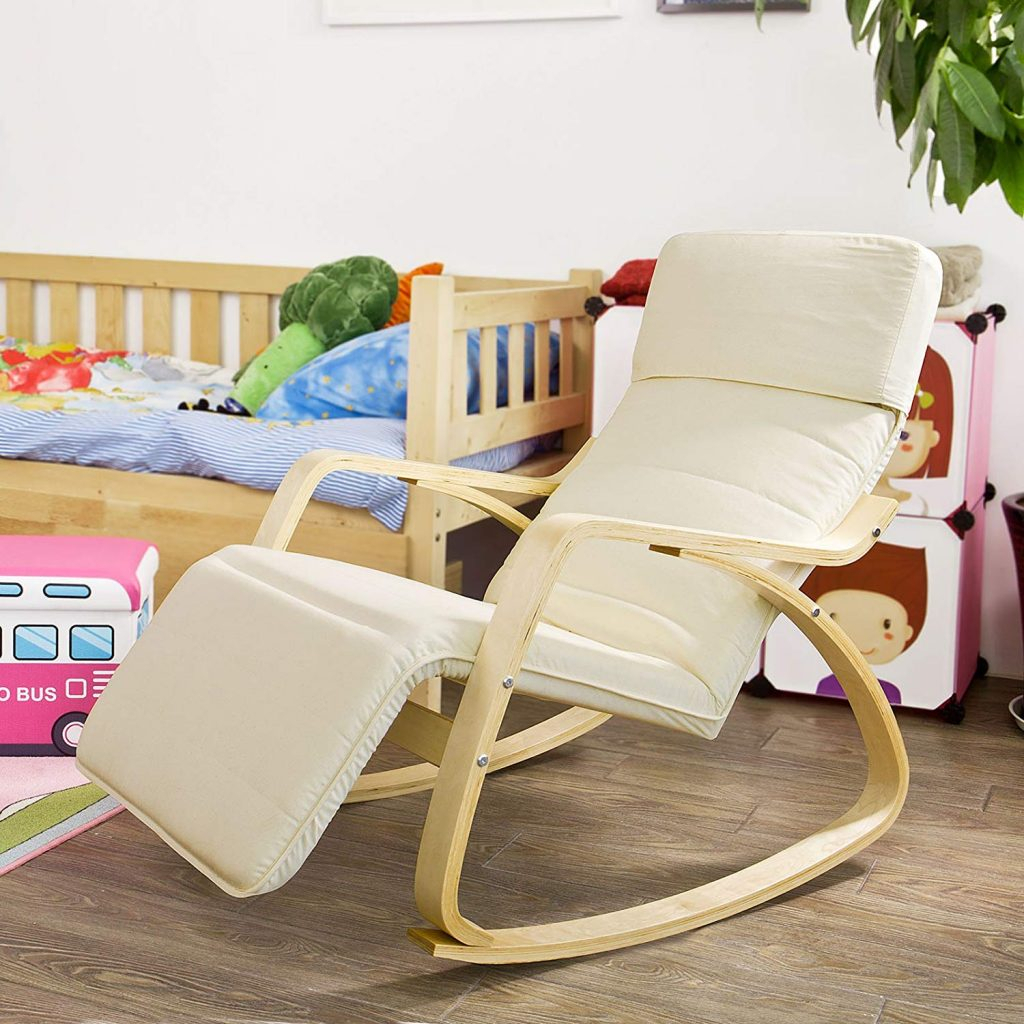 Inspiration about Rock A Bye Baby: Best Rocking Chair For Nurseries 2019 Pertaining To Rocking Chairs In Linen Fabric With Medium Espresso Base (#14 of 20)