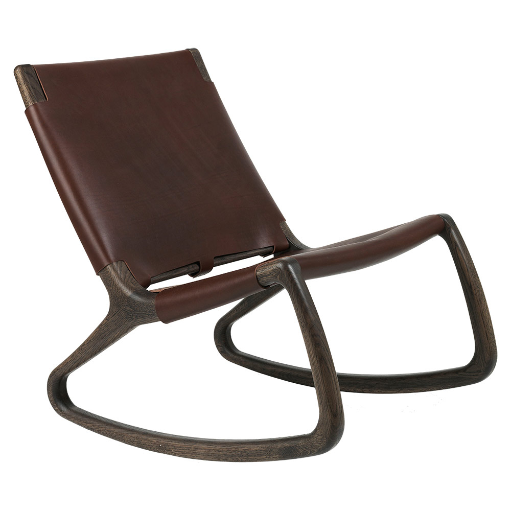 Rocker Lounge Chair – Mustang, Sirka Grey Stained Oak With Regard To Rocking Chairs & Lounge Chairs In Grey (View 16 of 20)