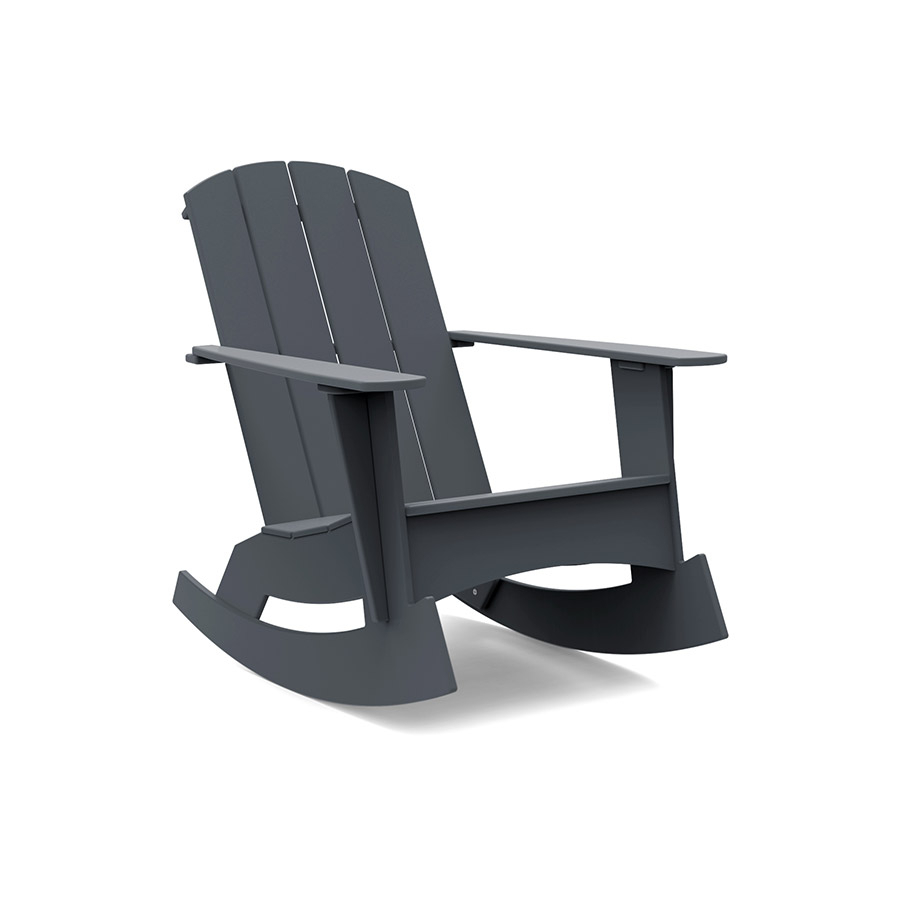 Rocking Adirondack Chair (Curved) For Black Plastic Rocking Chairs (#19 of 20)