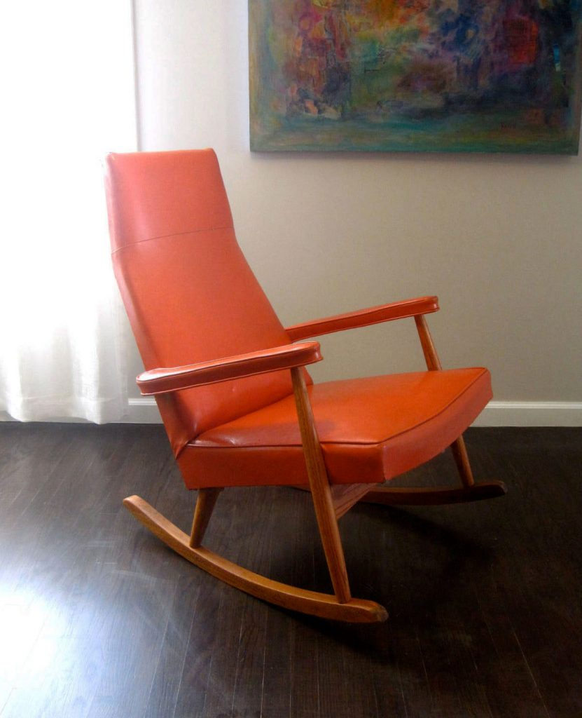 Inspiration about Rocking Chair Design Orange Rocking Chair 1950S Mid Century Regarding Orange Rocking Chairs Lounge Chairs (#19 of 20)