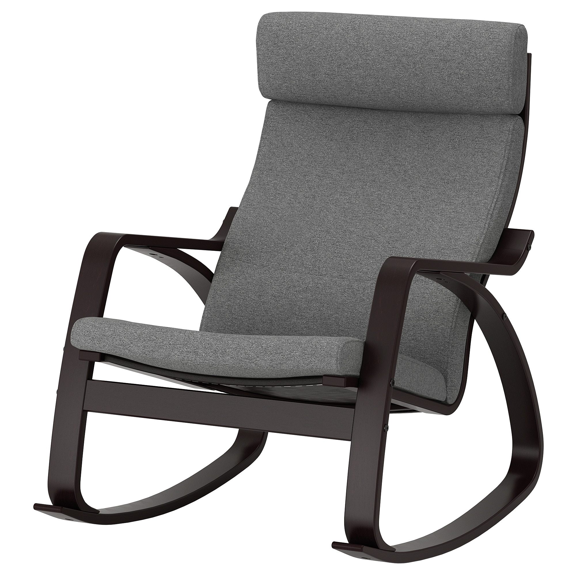 Inspiration about Rocking Chair Poäng Black Brown, Lysed Grey Intended For Rocking Chairs & Lounge Chairs In Grey (#19 of 20)