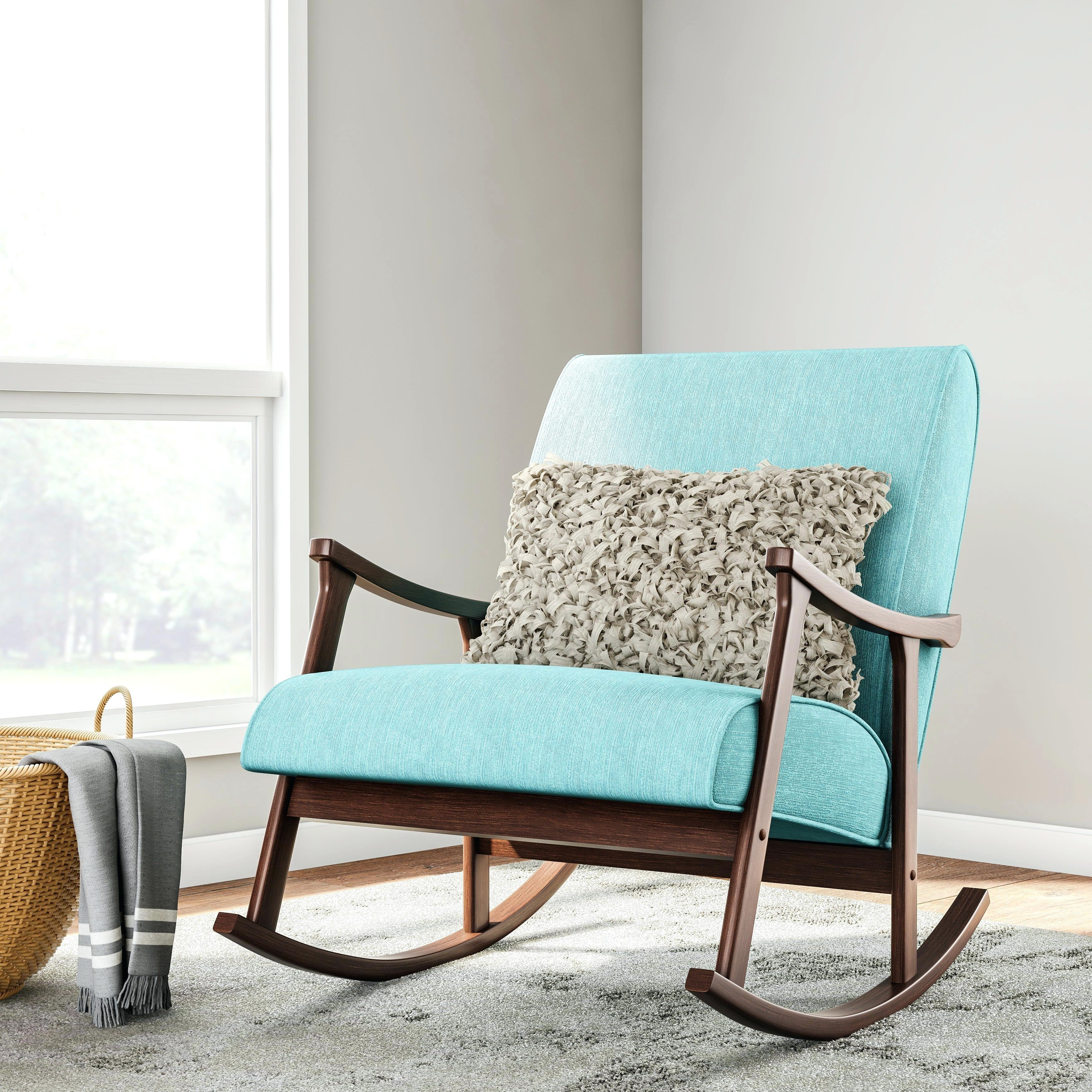 Inspiration about Rocking Chairs Online – Cafojapuqe.top Intended For Wooden Rocking Chairs With Fabric Upholstered Cushions, White (#20 of 20)