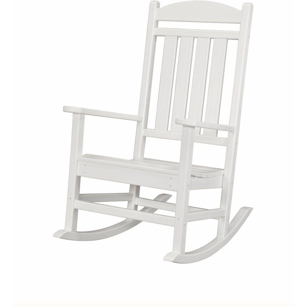 Inspiration about Rocking Chairs – Patio Chairs – The Home Depot With Antique White Wooden Rocking Chairs (#13 of 20)