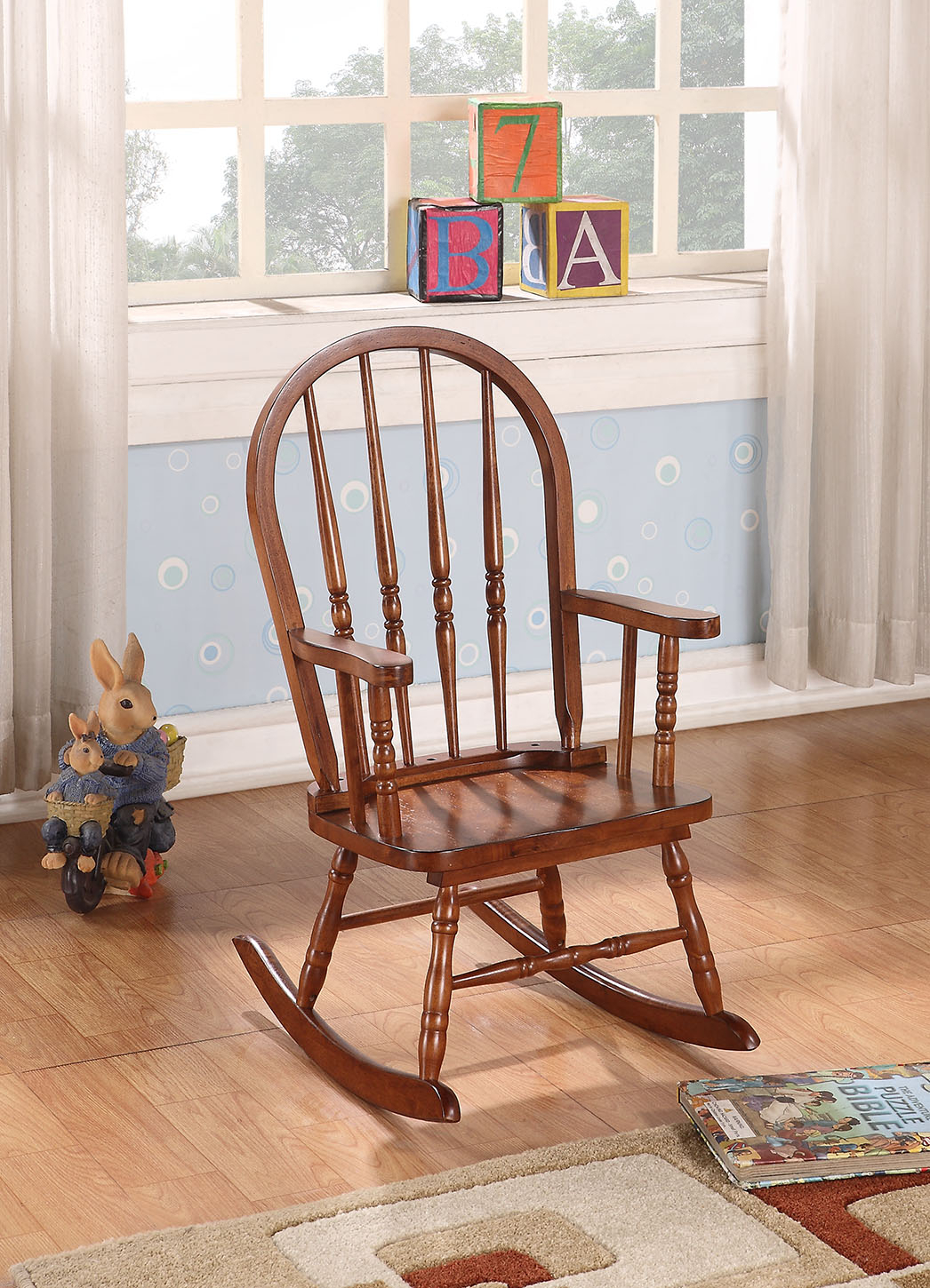 Inspiration about Rocking Chairs With Regard To Elegant Tobacco Brown Wooden Rocking Chairs (#13 of 20)