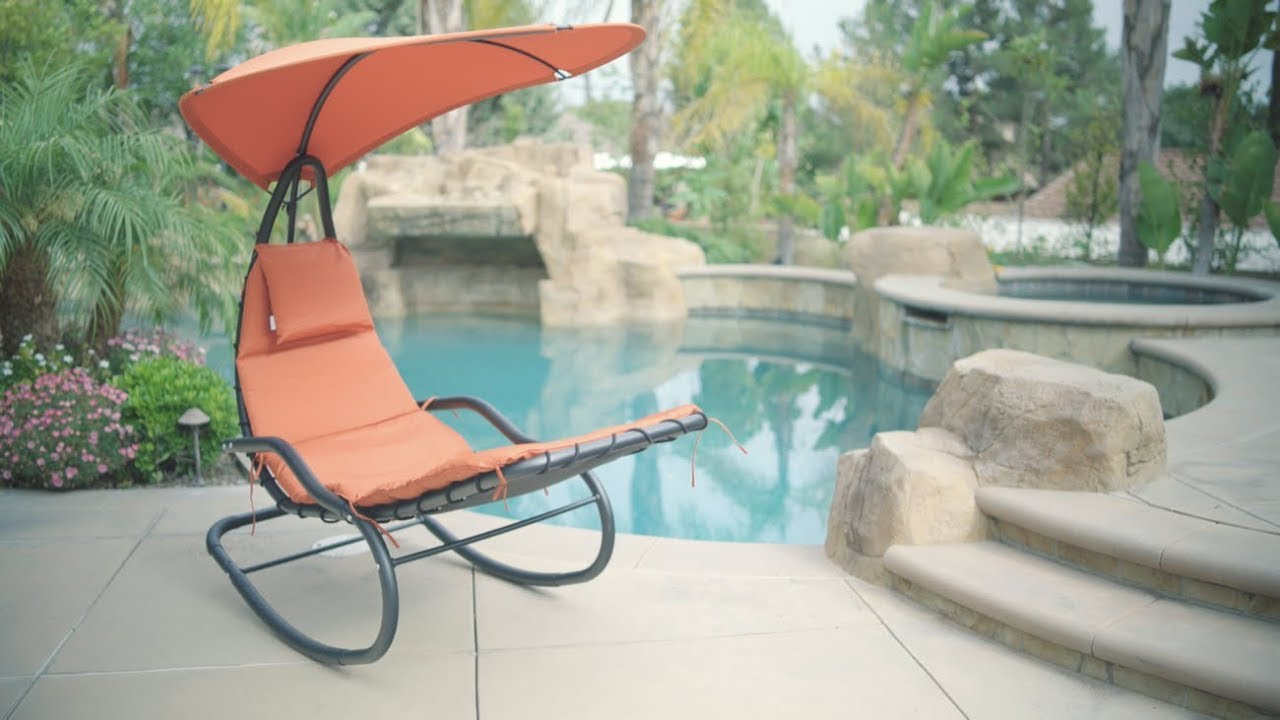 Rocking Chaise Lounge Chair In Orange Rocking Chairs Lounge Chairs (View 15 of 20)