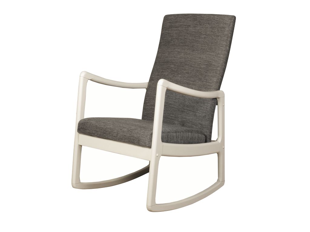 Inspiration about Rossa Wooden Rocking Chair For Beige Fabric And Cherry Wood Rocking Chairs (#10 of 20)