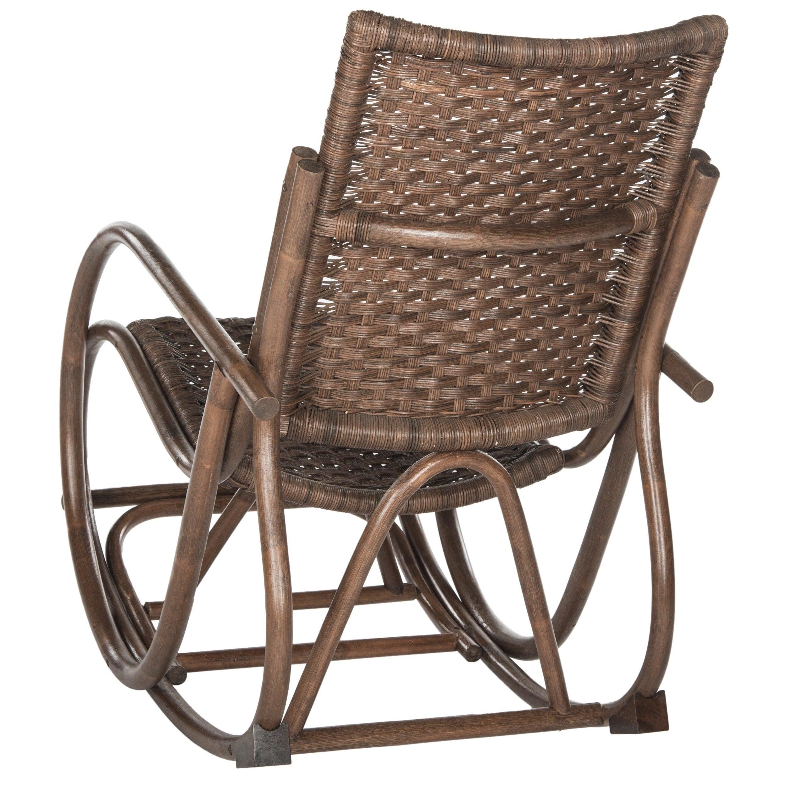 Safavieh Bali Brown Rocking Chair Within Bali Brown Rocking Chairs (View 3 of 20)
