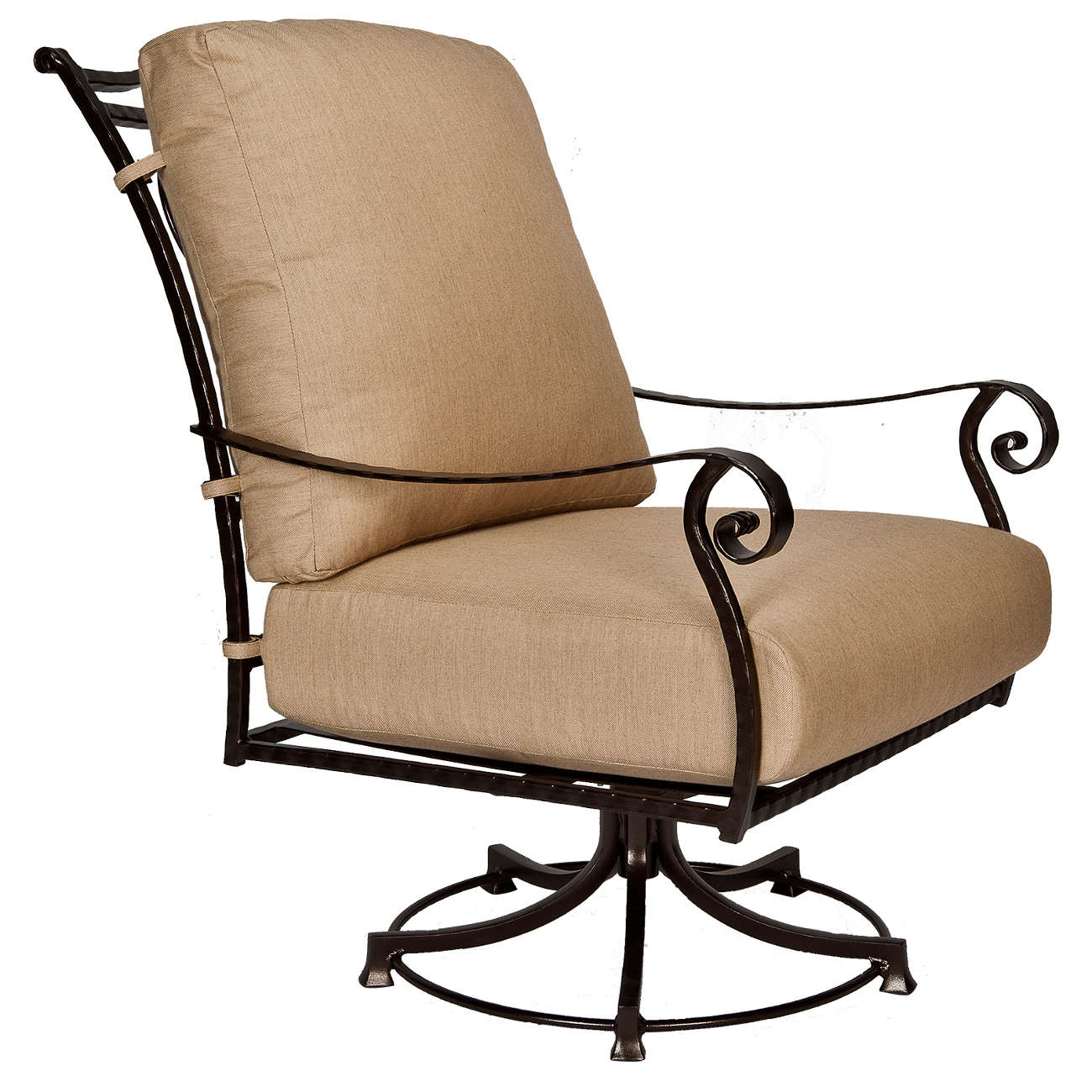 San Cristobal Swivel Rocker Lounge Chair | Outdoor Furniture Pertaining To Orange Rocking Chairs Lounge Chairs (View 18 of 20)