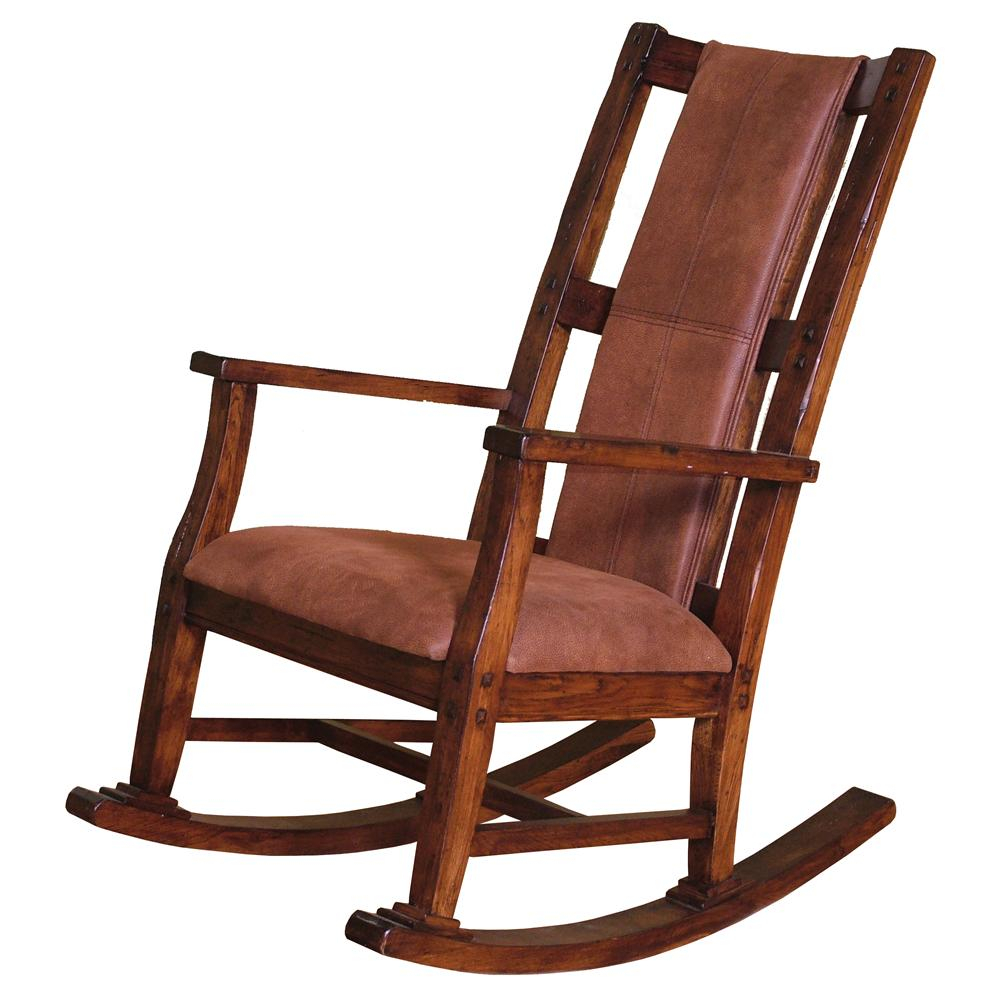 Santa Fe Traditional Wood Rocker With Upholstered Seat Cushion And Back Vfm Signature At Virginia Furniture Market Intended For Radford Traditional Rocking Chairs (View 6 of 20)