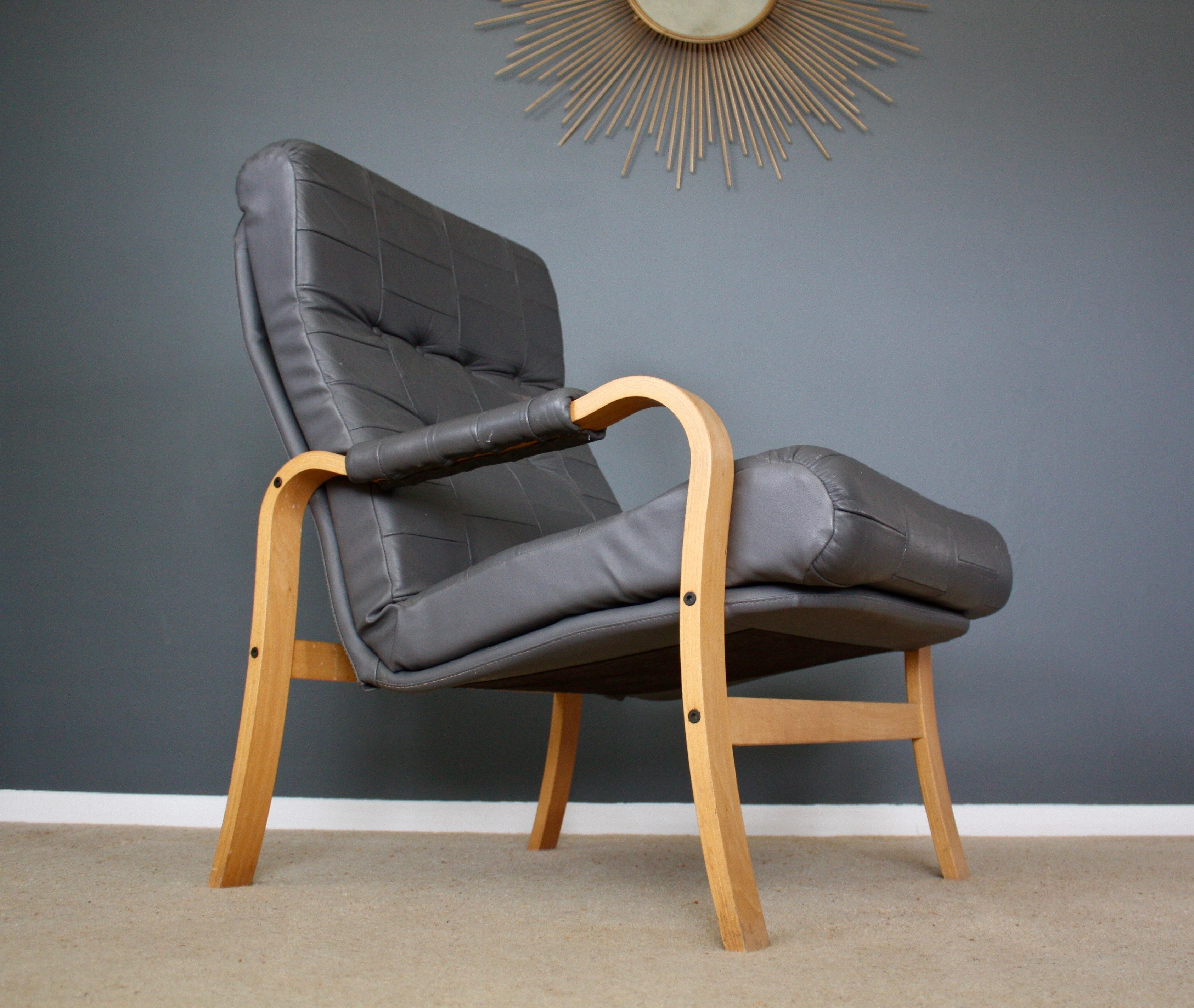 Scandinavian Vintage Bentwood Armchair Mid Century Retro 50S 60S 70S With Dover Bentwood Rocking Chairs (#15 of 20)