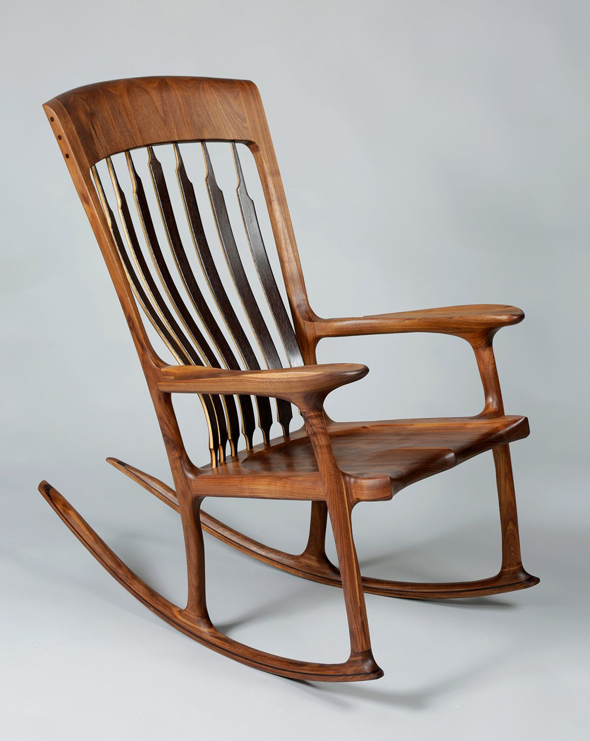 Inspiration about Sculpted Rocker | Handcrafted Furniture | Woodworking Intended For Luxury Mission Style Rocking Chairs (#15 of 20)