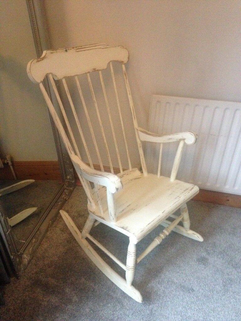 Shabby Chic Rocking Chair | In Loughborough, Leicestershire | Gumtree Intended For Rocking Chairs, Cream And Brown (#20 of 20)