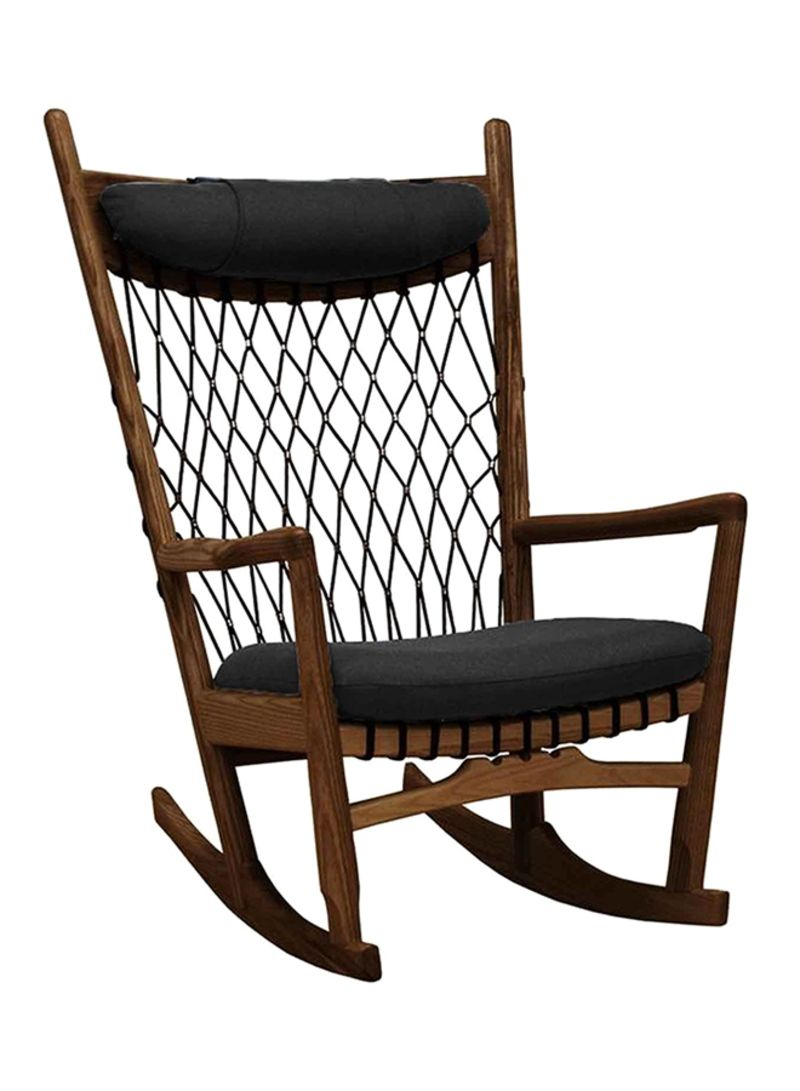 Shop Ebarza Lounge Rocking Chair Walnut Wood/black Online In Dubai, Abu Dhabi And All Uae Regarding Walnut Wood Rocking Chairs (View 5 of 20)