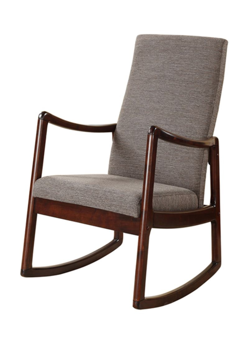 Shop Homes R Us Max Rocking Chair Espresso 84X75X30 Inside Espresso Brown Rocking Chairs (#16 of 20)
