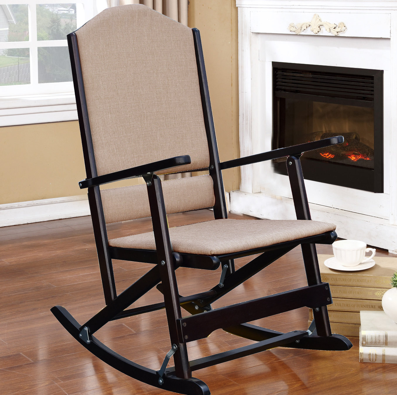 Small Space Rocking Chair You'll Love In 2019 | Wayfair Within Rocking Chairs In Linen Fabric With Medium Espresso Base (#19 of 20)