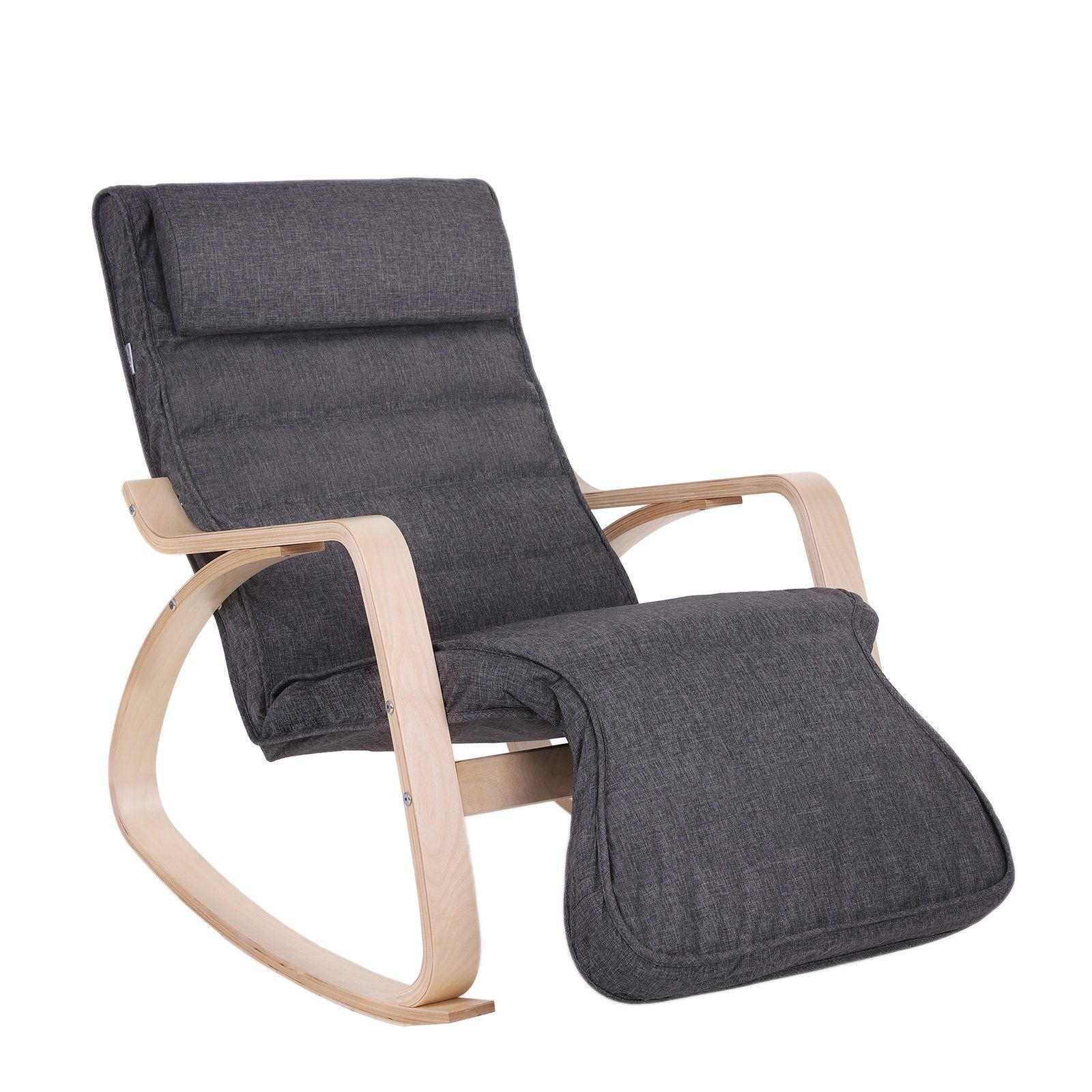 Songmics Rocking Lounge Chair/recliners/gliders With 5Way Pertaining To Rocking Chairs & Lounge Chairs In Grey (View 18 of 20)