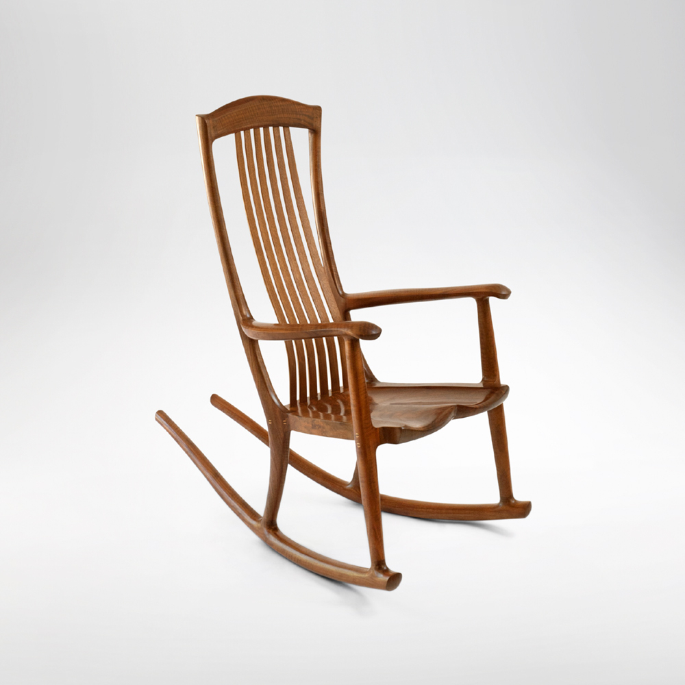 South Yuba Rocking Chair | Handmade Rocker | Erickson Throughout Madrone Windsor Country Style Rocking Chairs (#13 of 20)