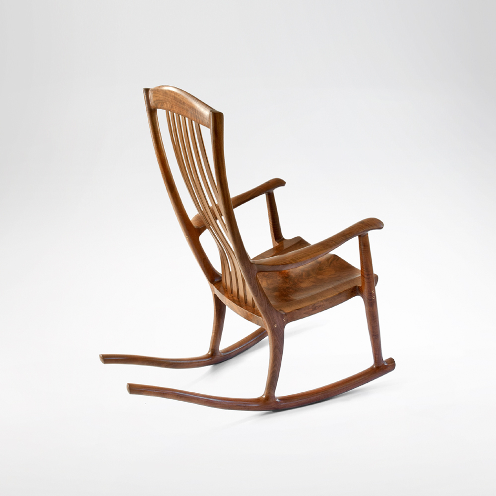 South Yuba Rocking Chair | Handmade Rocker | Erickson Within Madrone Windsor Country Style Rocking Chairs (#14 of 20)