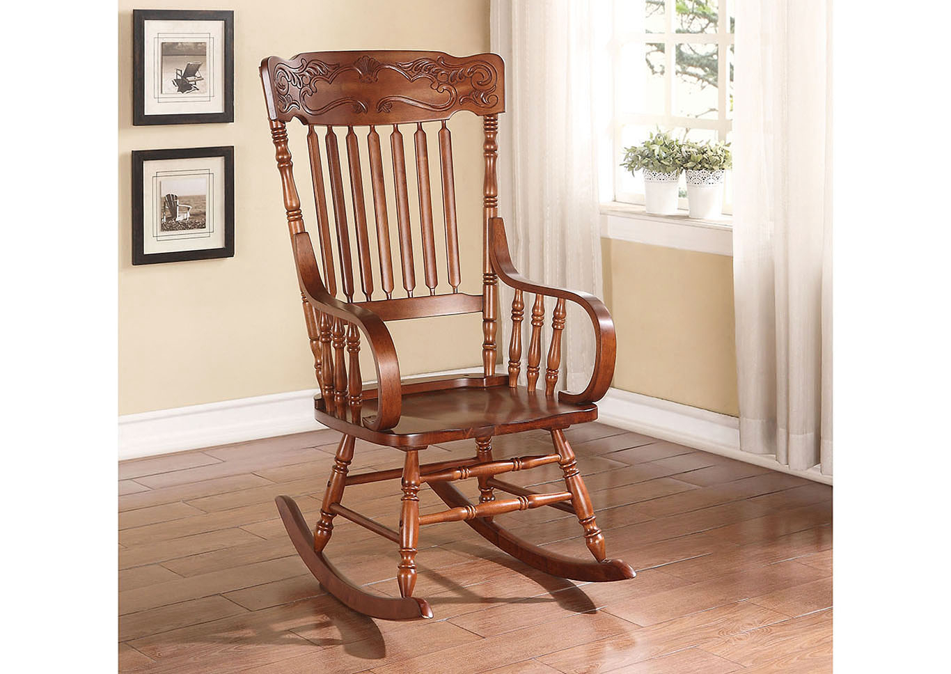 Spark Furniture Kloris Tobacco Rocking Chair Pertaining To Tobacco Brown Kids Rocking Chairs (View 8 of 20)