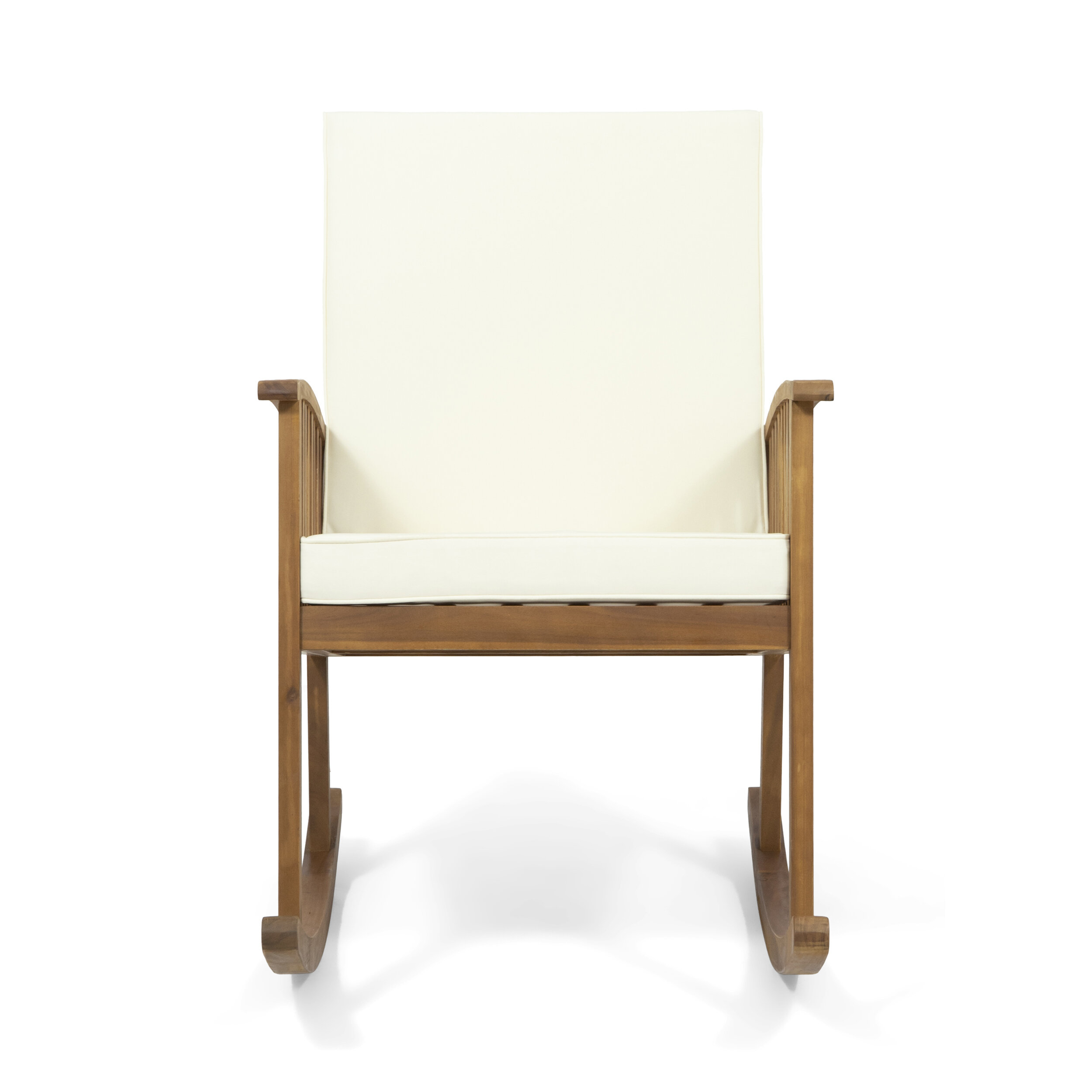 Stamm Rocking Chair With Cushions Inside Traditional Indoor Acacia Wood Rocking Chairs With Cushions (#19 of 20)