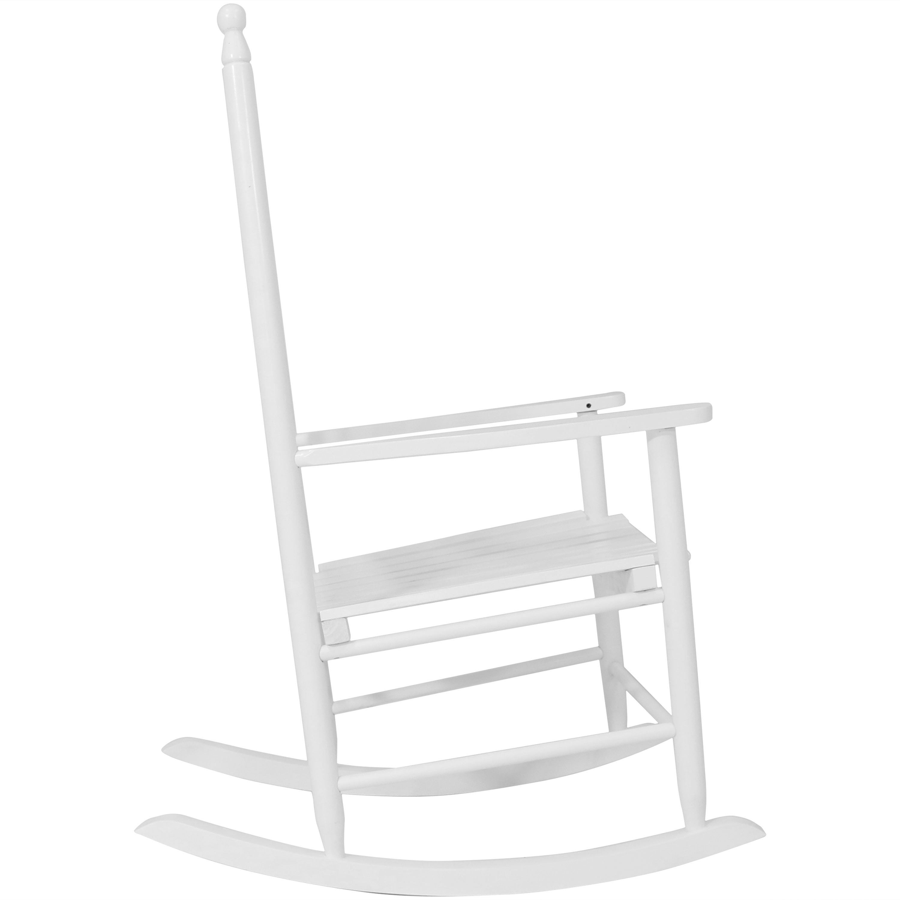 Sunnydaze Wooden Traditional Rocking Chair With Non Toxic Paint Finish –  White Regarding Brady Traditional White Rocking Chairs (#17 of 20)