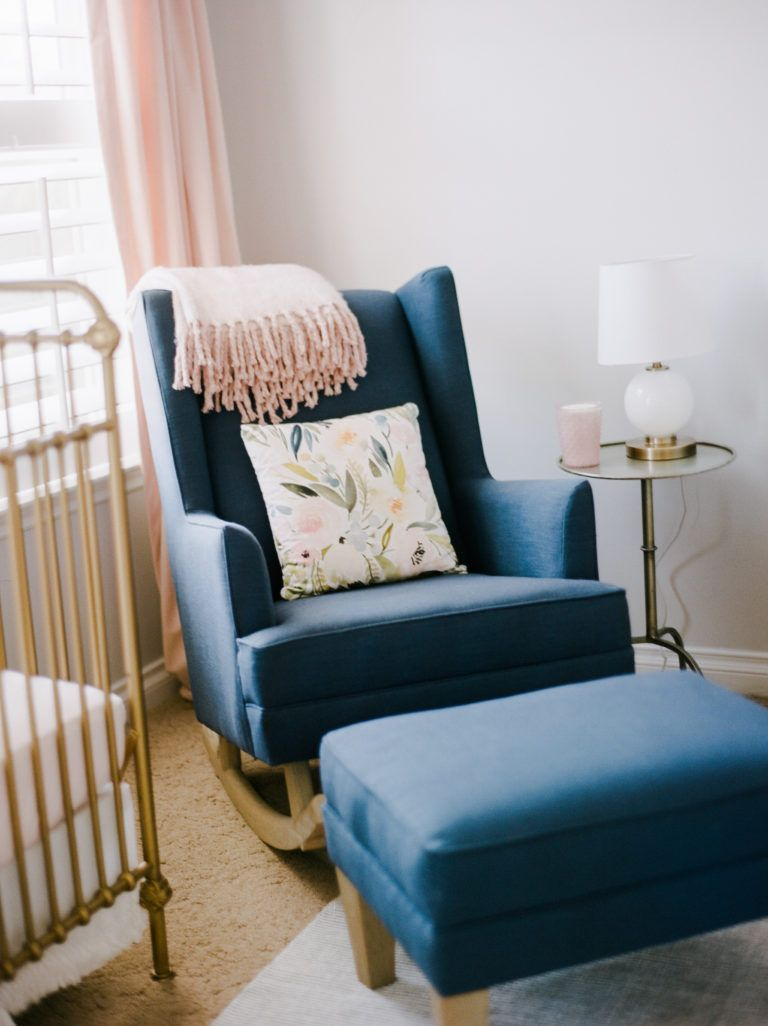 Sweet Pastel Nursery | Nursing Nooks | Rocking Chair Nursery For Rocking Chairs Arm Chairs For Living And Nursery Room (#18 of 20)