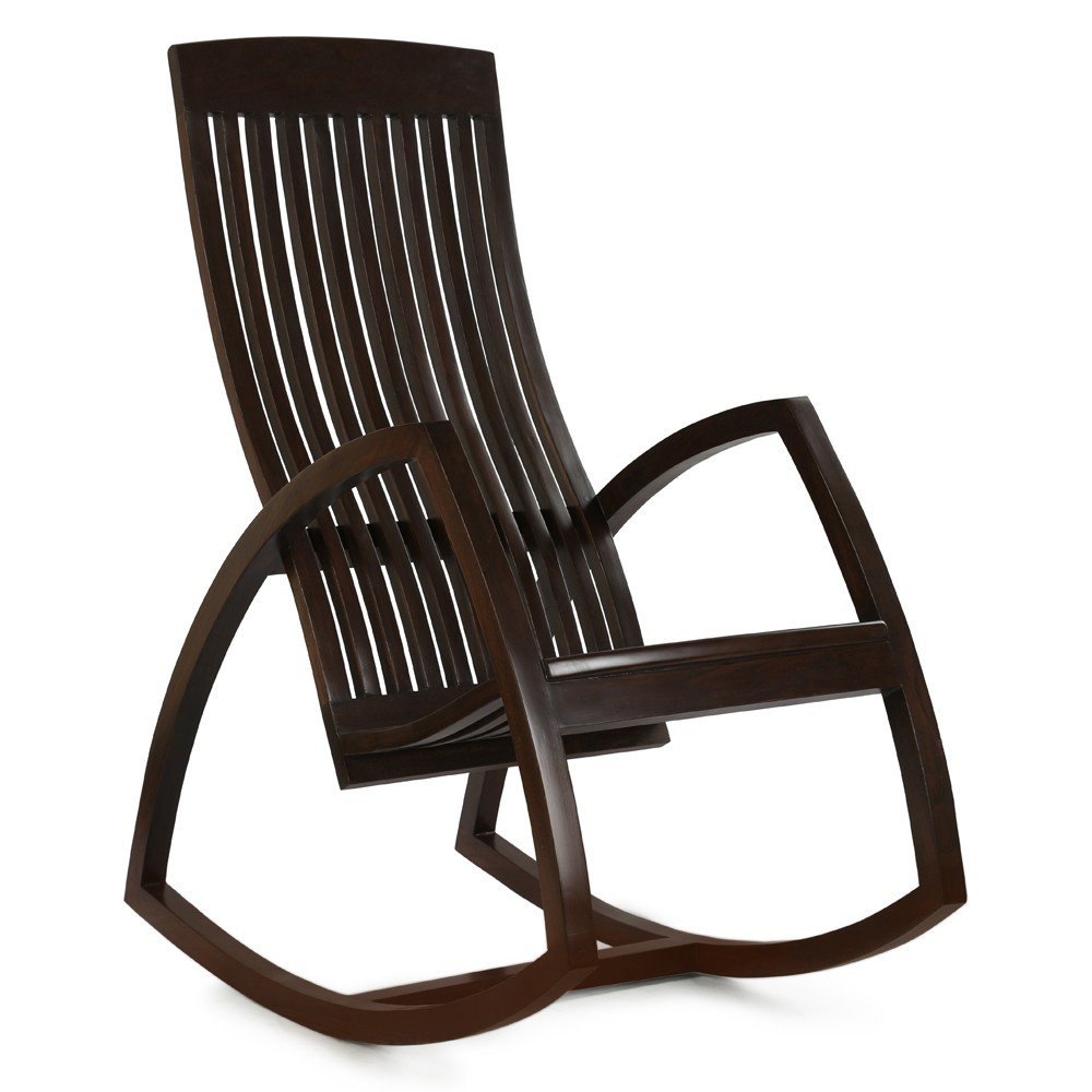 Inspiration about Teak Wood Rocking Chair In Walnut Brown In Walnut Wood Rocking Chairs (#15 of 20)