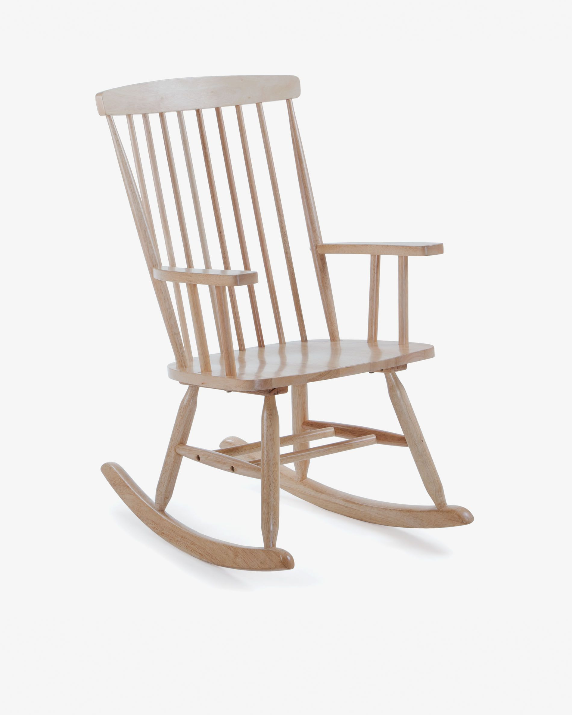 Tenzo Rocking Chair Natural | Kave Home Regarding Black Rubberwood Rocking Chairs (#19 of 20)