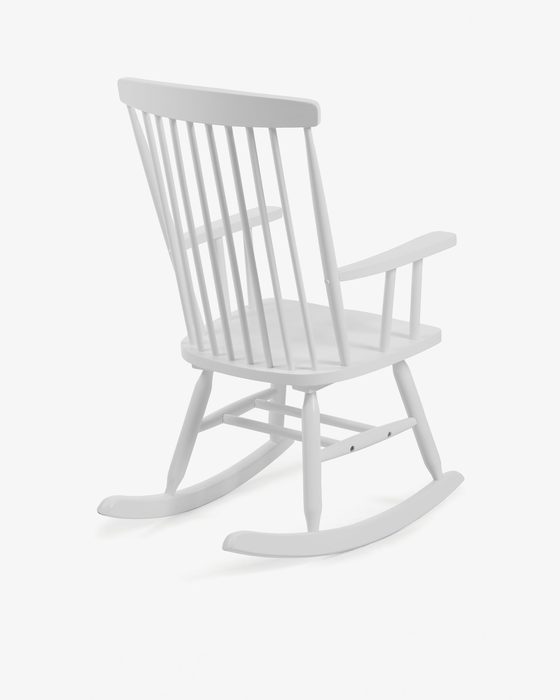 Inspiration about Tenzo Rocking Chair White | Kave Home Pertaining To Black Rubberwood Rocking Chairs (#18 of 20)