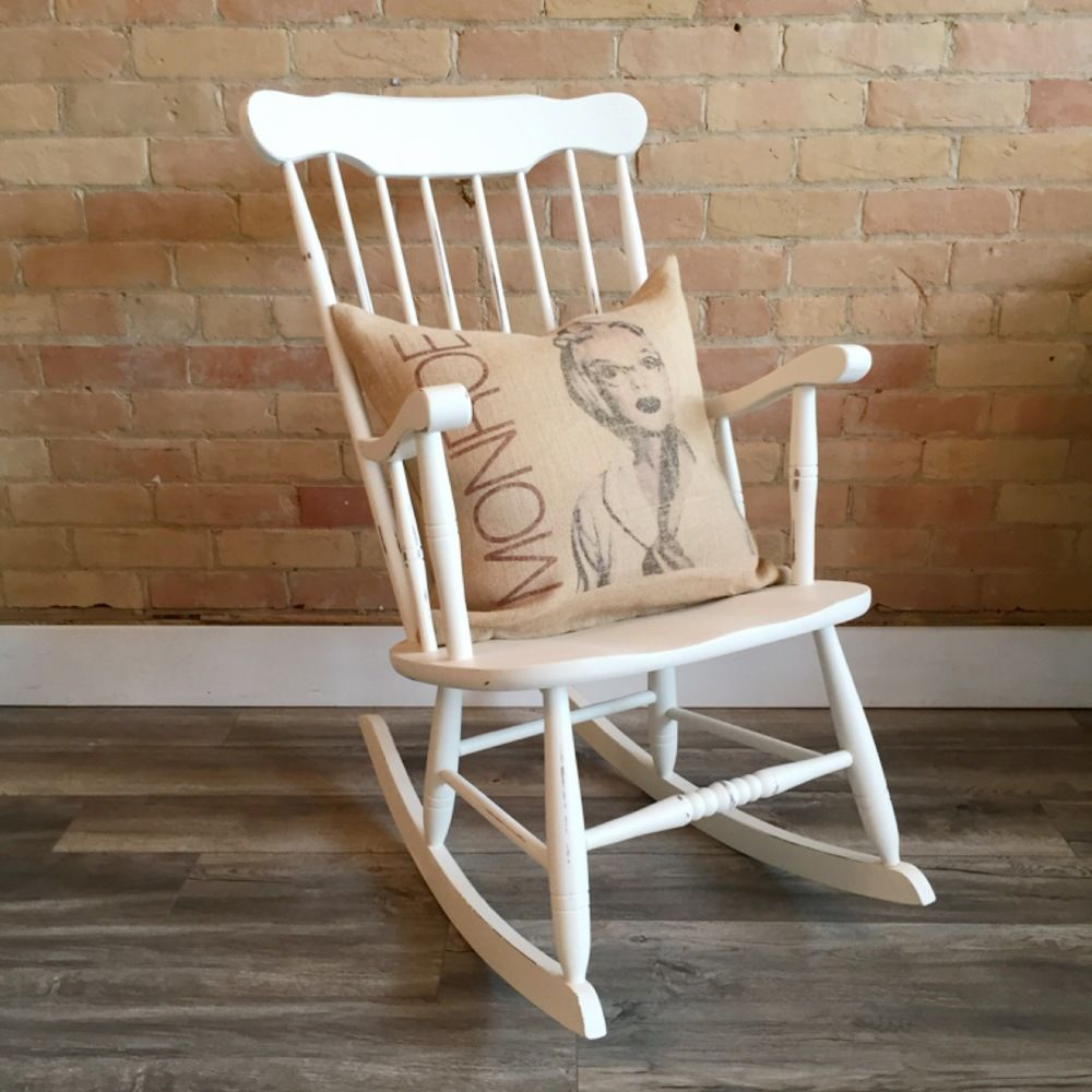 Inspiration about The Miranda Rocking Chair In Kentucky Blue This Vintage Throughout Antique White Wooden Rocking Chairs (#16 of 20)