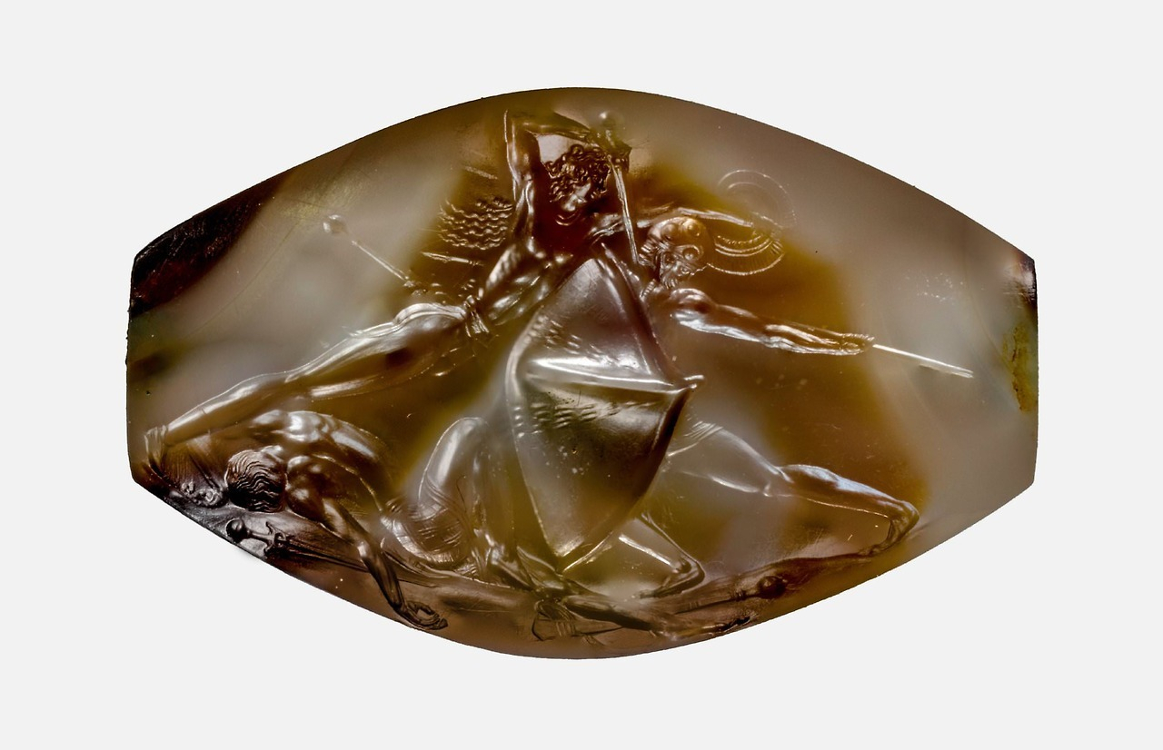 Inspiration about The Pylos Combat Agate Carvedancient Minoa… – History Regarding Wood And Leather Chavin Deities Rocking Chairs (#17 of 20)