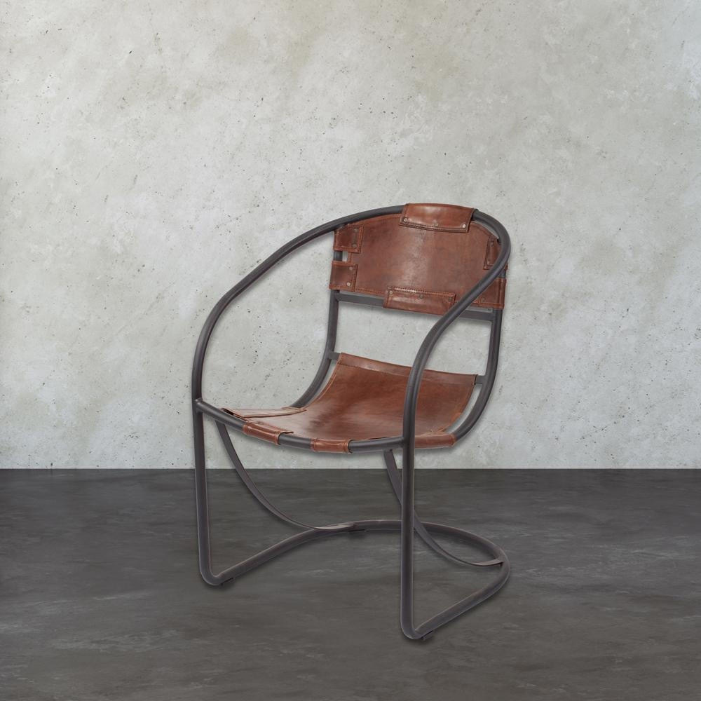 Tobacco And Black Iron Metal Arm Chair Pertaining To Tobacco Rocking Chairs (#18 of 20)