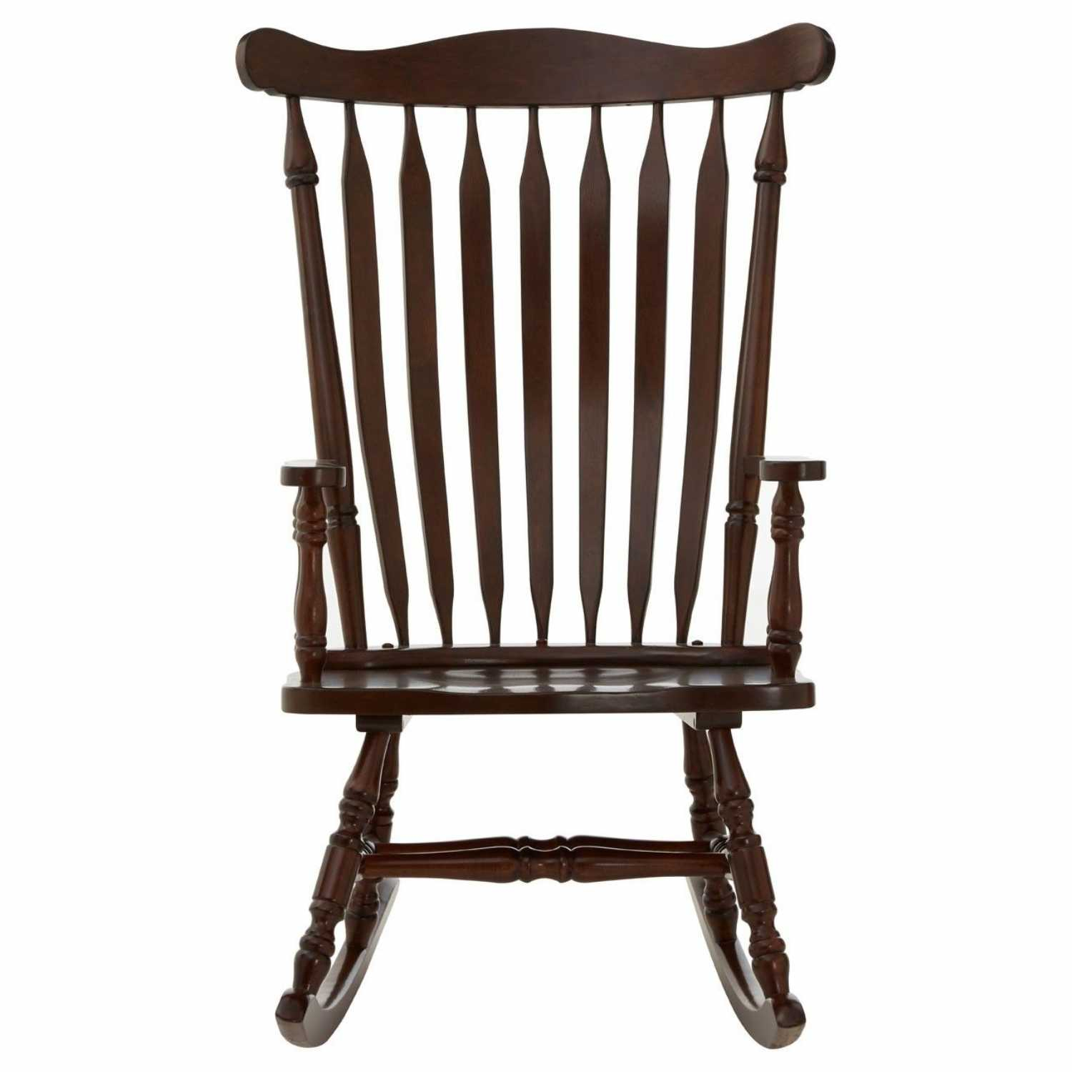 Traditional Espresso Colour Rubberwood Robust Relax Rocking Chair Throughout Espresso Brown Rocking Chairs (#18 of 20)