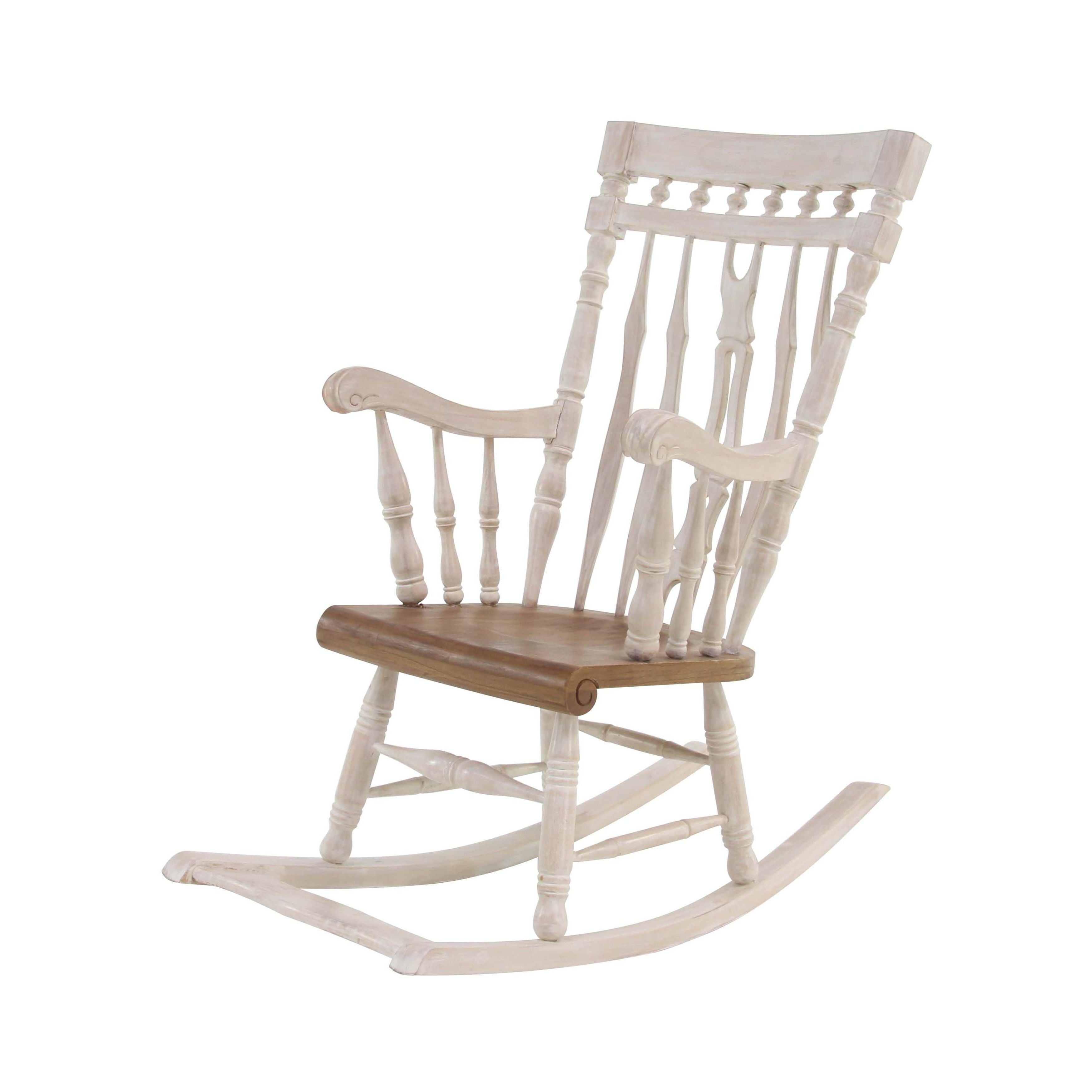 Inspiration about Traditional Mahogany Wood Windsor Rocking Chair With Poppy Mission Espresso Rocking Chairs (#7 of 20)