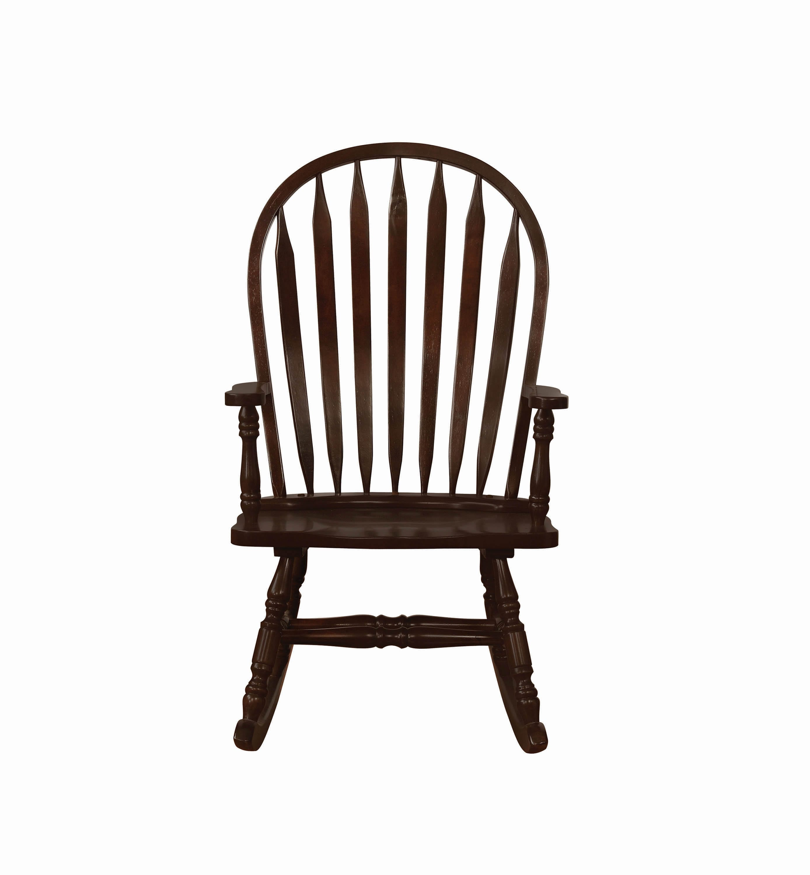Traditional Rocking Chair – Coaster Fine Furniture Inside Cappuccino Curved Rocking Chairs (#17 of 20)