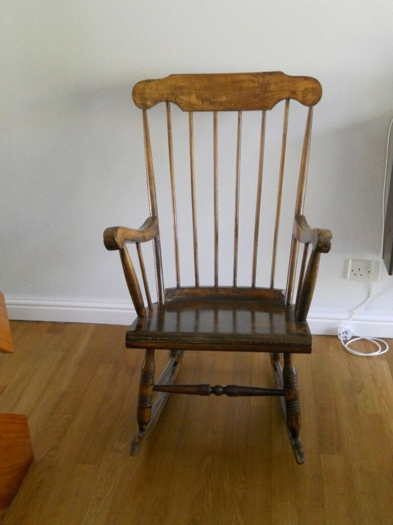 Inspiration about Traditional Solid Wood Slat Back Rocking Chair | In Weston Super Mare,  Somerset | Gumtree Within Weston Rocking Chairs (#3 of 20)
