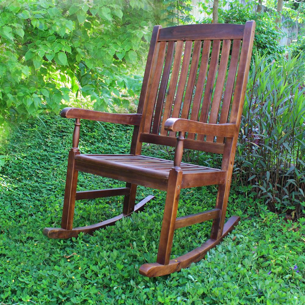 Traditional Wood Porch Rocker Regarding Traditional Wooden Porch Rocking Chairs (#20 of 20)