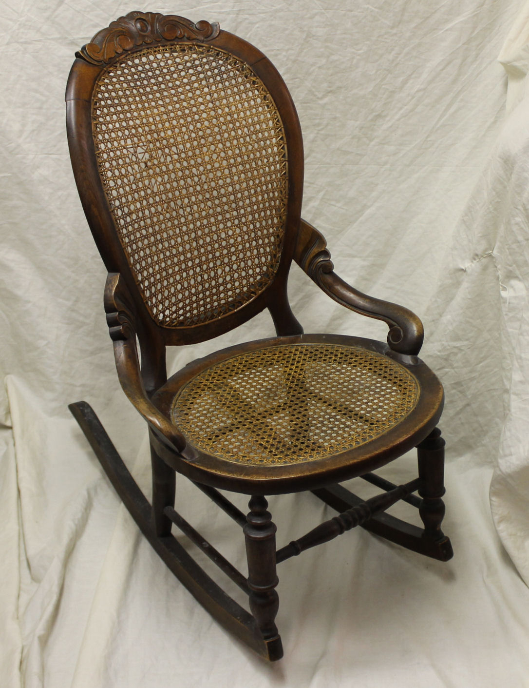Inspiration about Victorian Walnut Sewing Rocker With Cane Seat And Back Within Walnut Wood Rocking Chairs (#19 of 20)