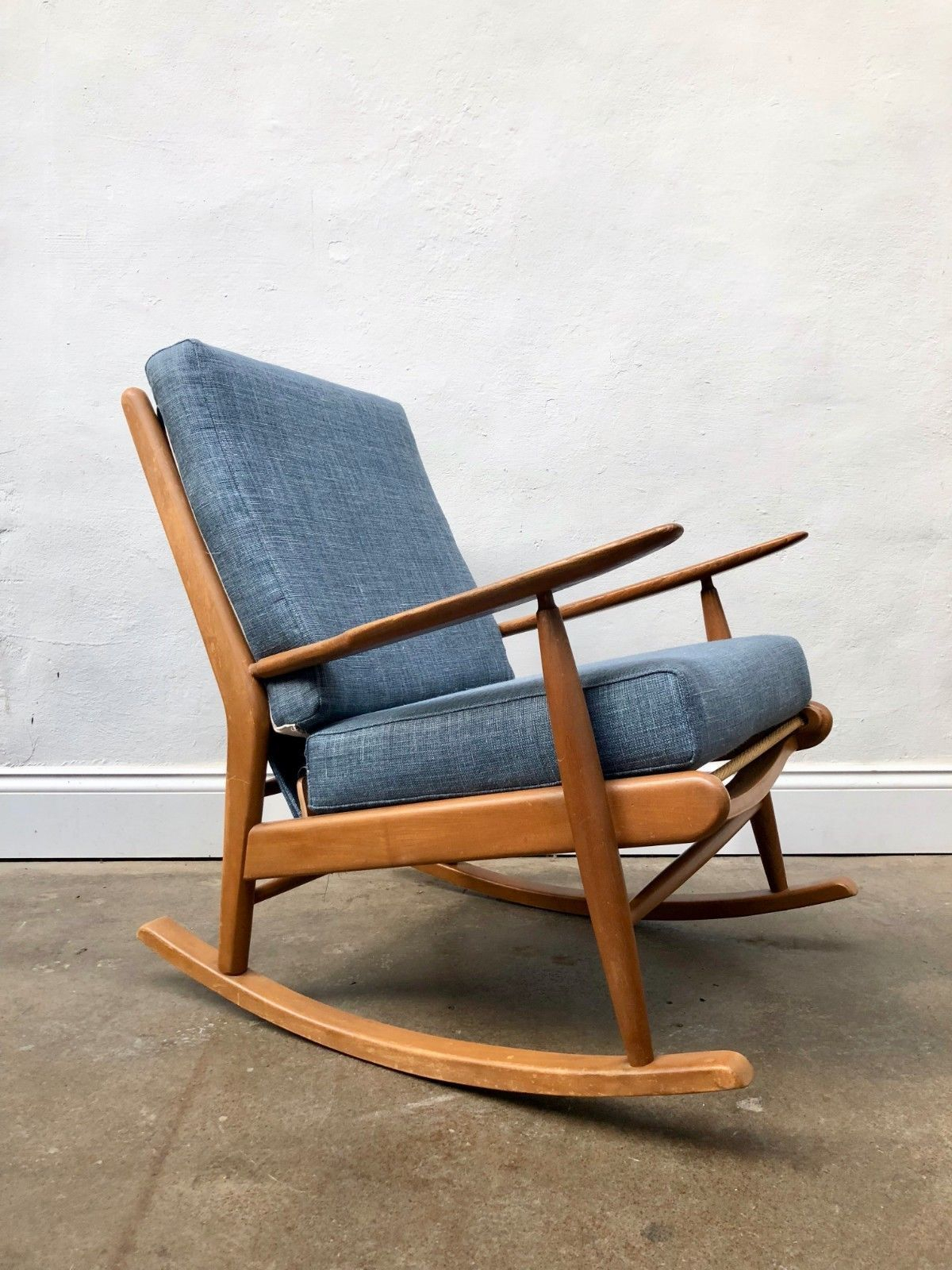 Inspiration about Vintage 1960S Scandart Teak Danish Rocking Chair. Retro Wegner G Plan Mid  Century Pertaining To Nevies Mid Century Modern Fabric Rocking Chairs (#13 of 20)