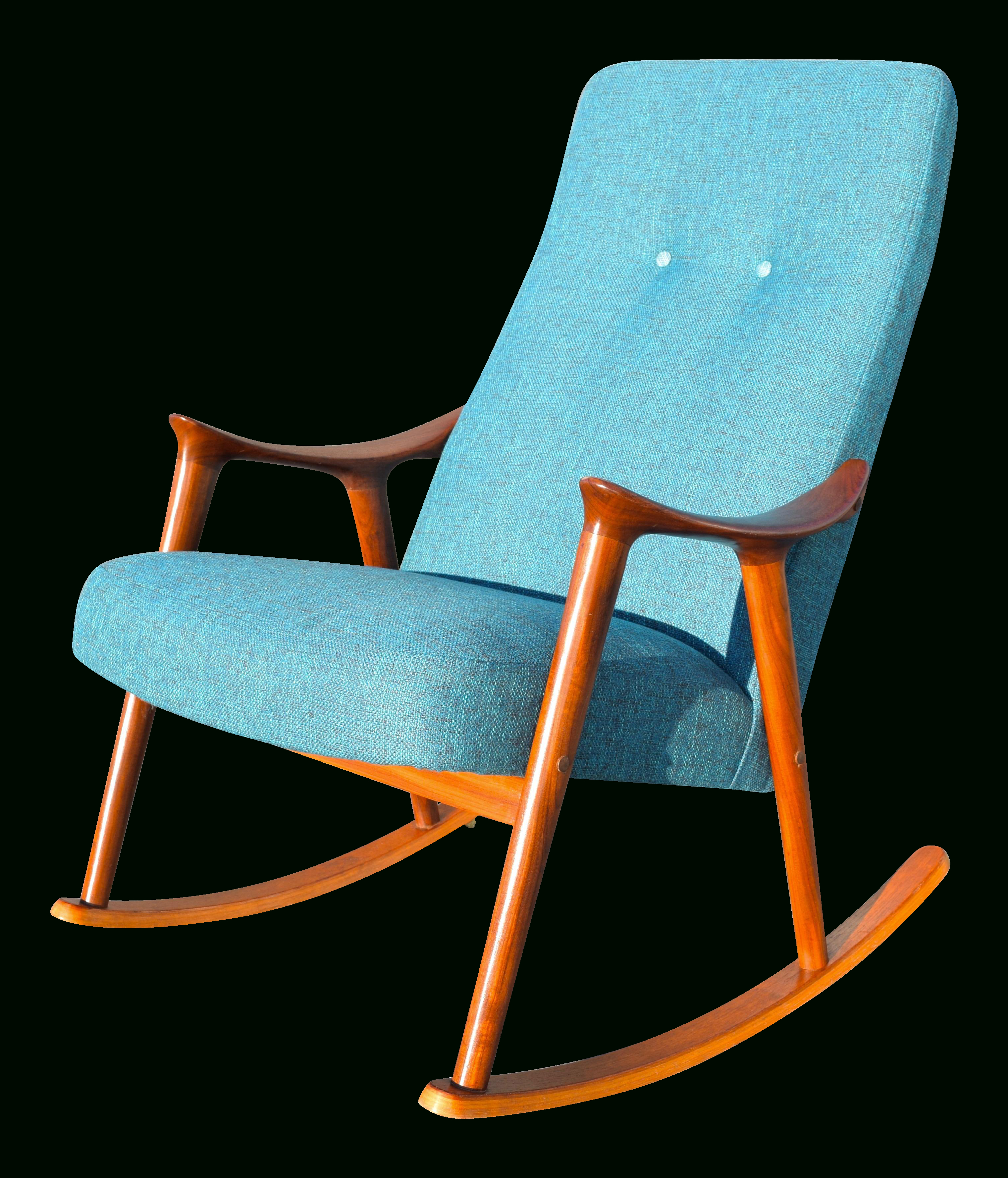 Inspiration about Vintage Danish Modern Rocking Chairrastad & Relling For Within Harvey Mid Century Modern Fabric Rocking Chairs (#16 of 20)