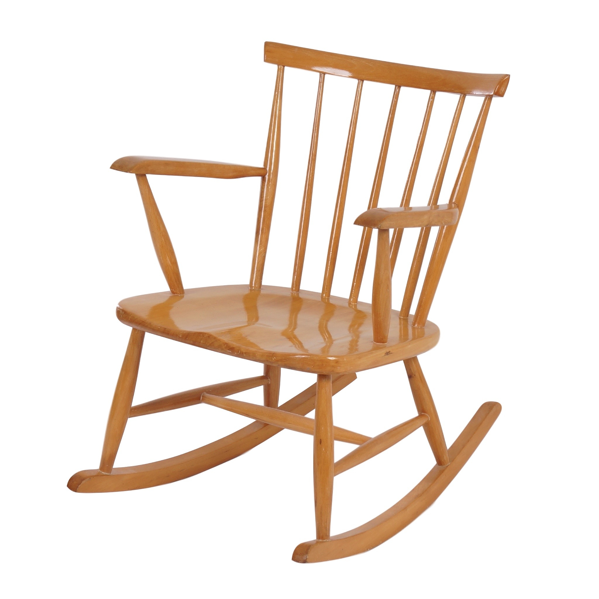 Vintage Rocking Chair, 1960S For Mid Century Birch Rocking Chairs (#19 of 20)