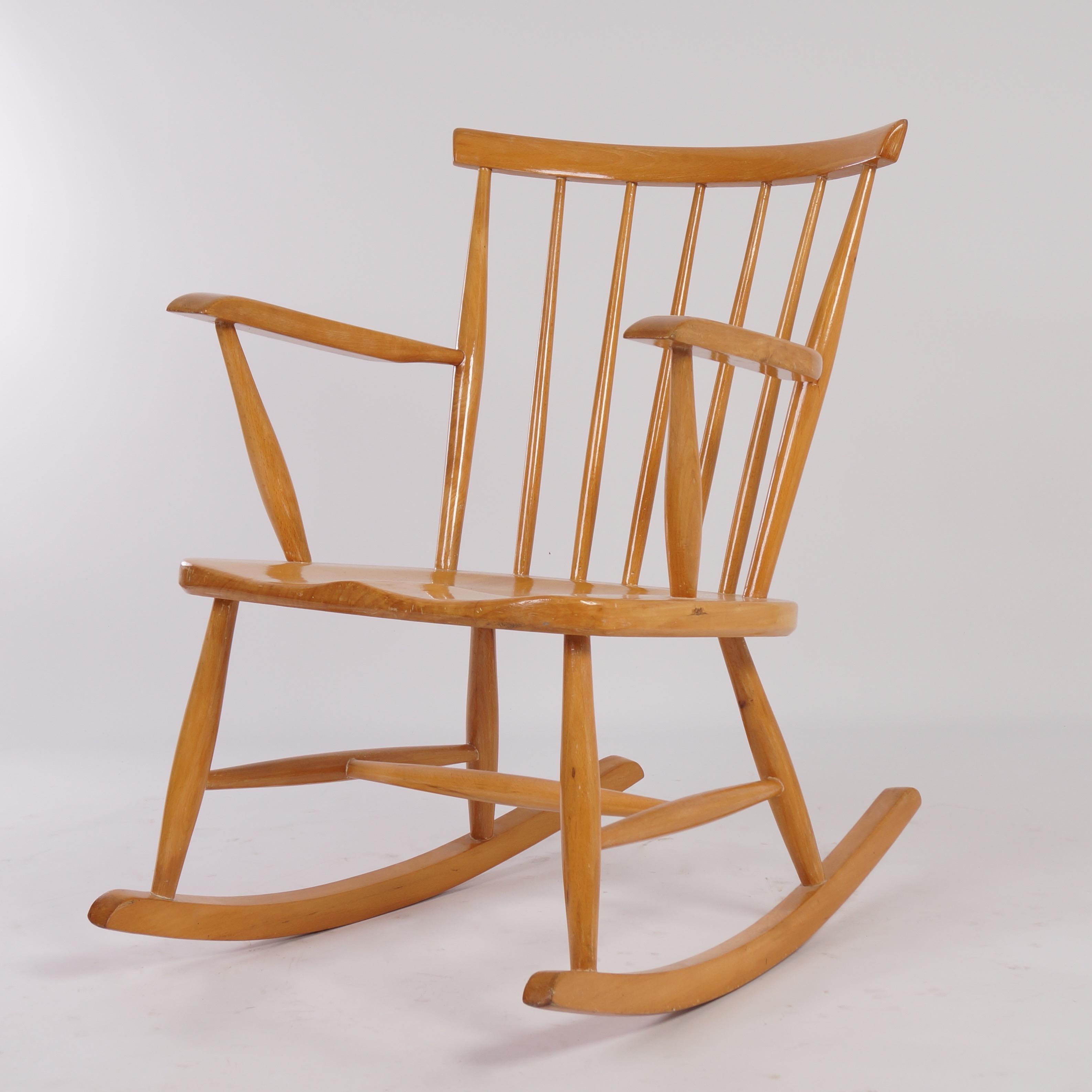 Vintage Rocking Chair, 1960S Regarding Mid Century Birch Rocking Chairs (#20 of 20)