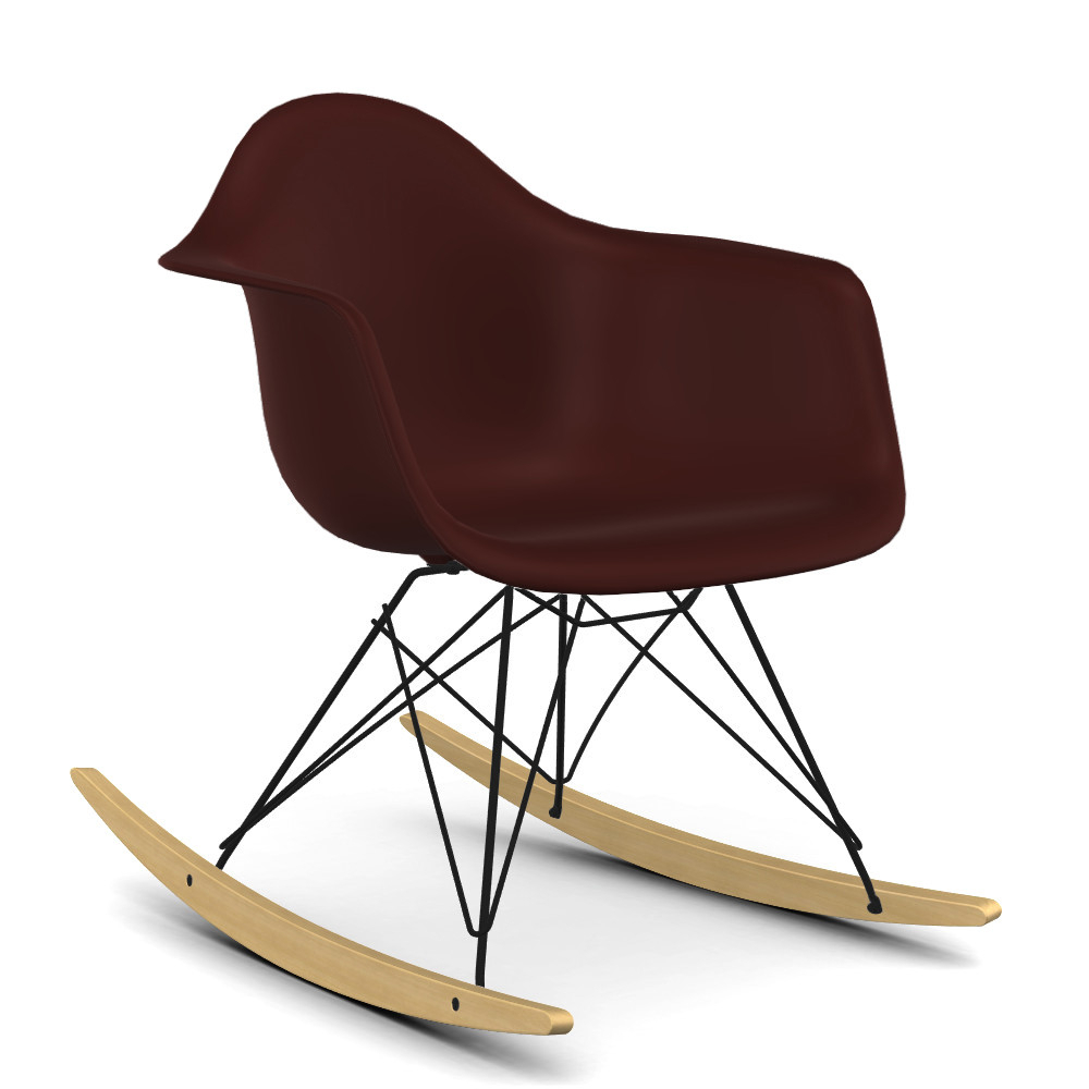 Vitra Eames Plastic Armchair Rar, Oxide Red, Coated Basic For Plastic Arm Chairs With Rocking Legs (View 13 of 20)